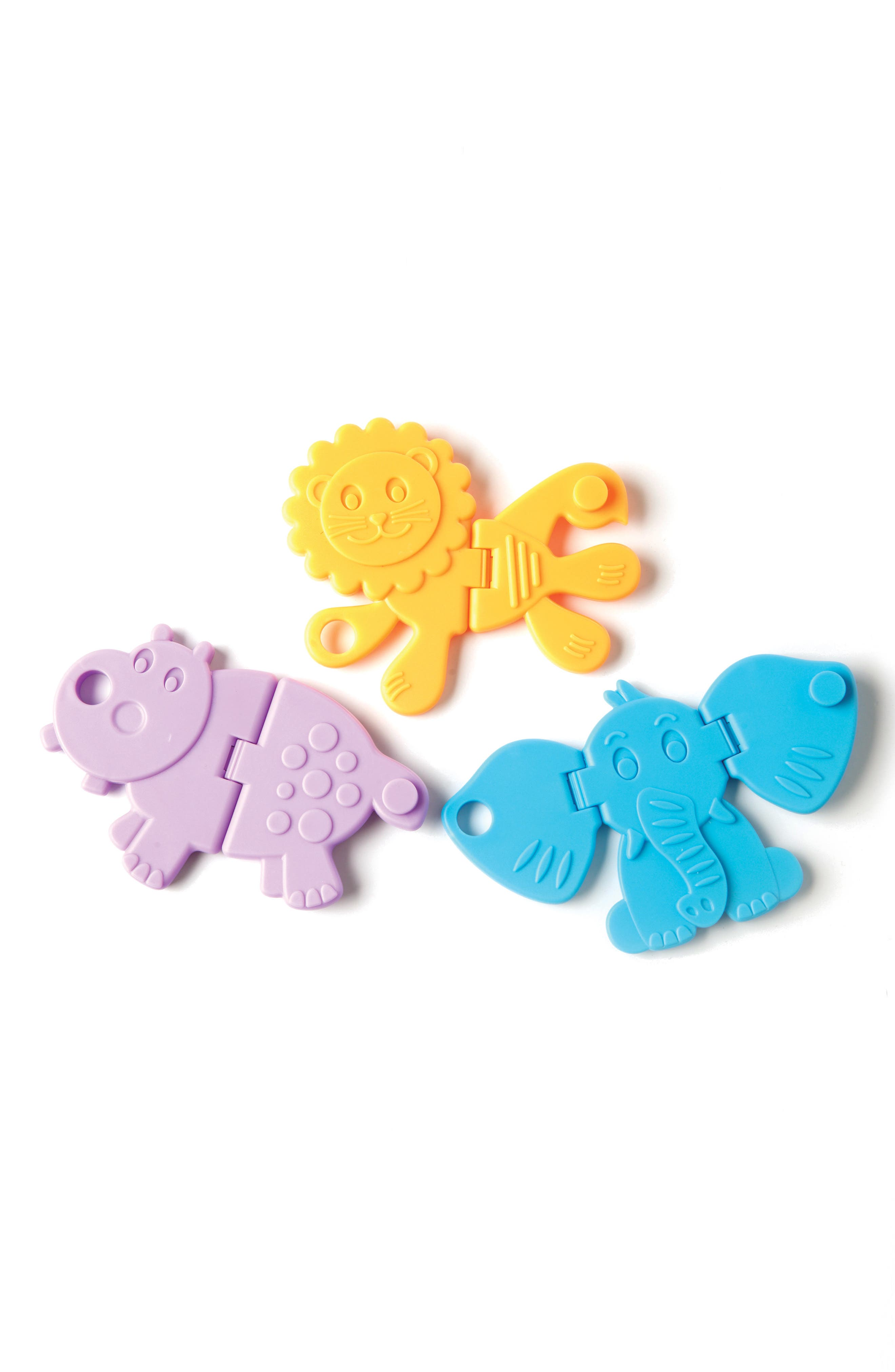 Fat Brain Toys Animal Crackers 3-Piece Linking Toy Set