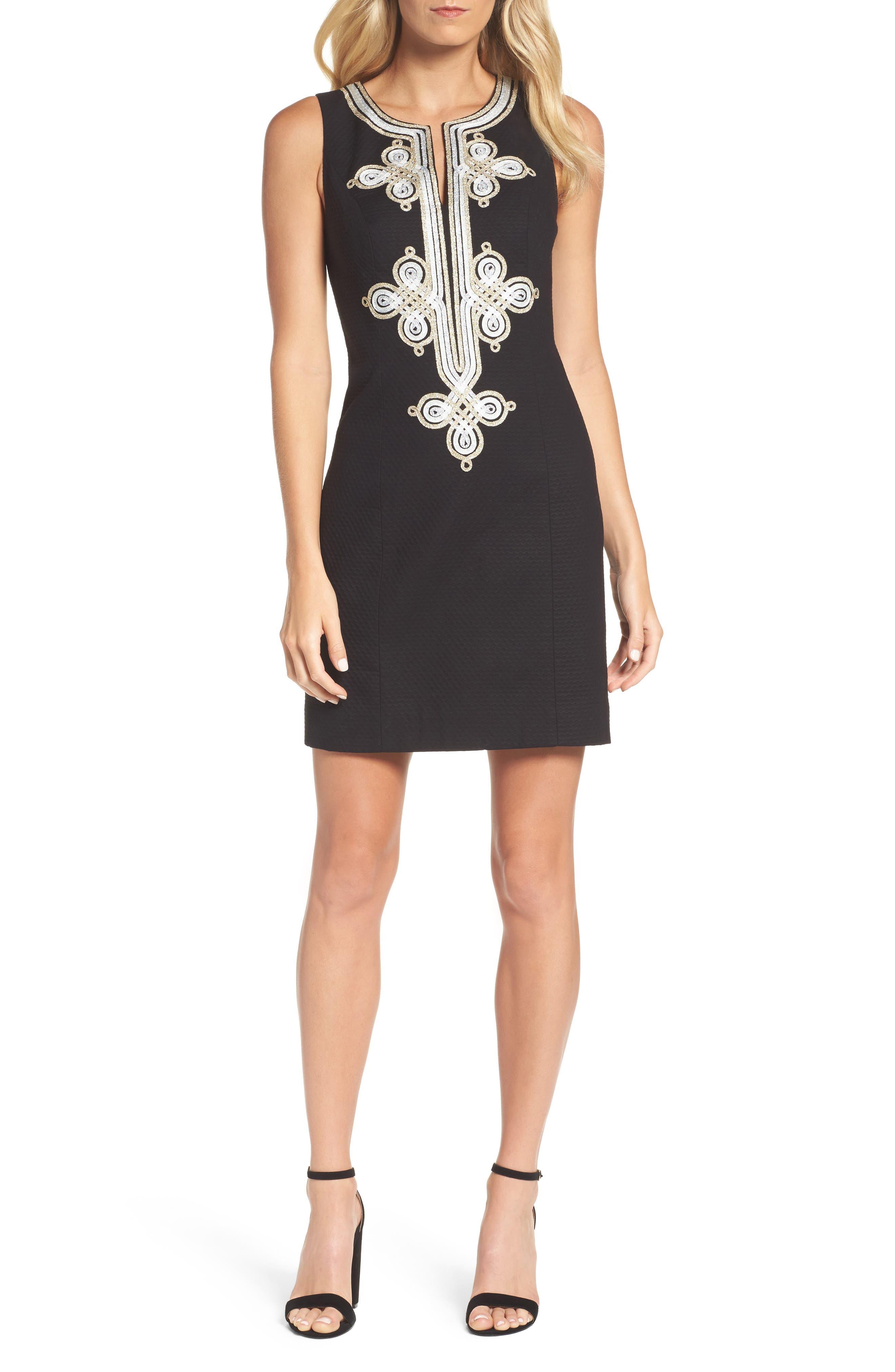 Mila Shift Dress,                         Main,                         color, Black