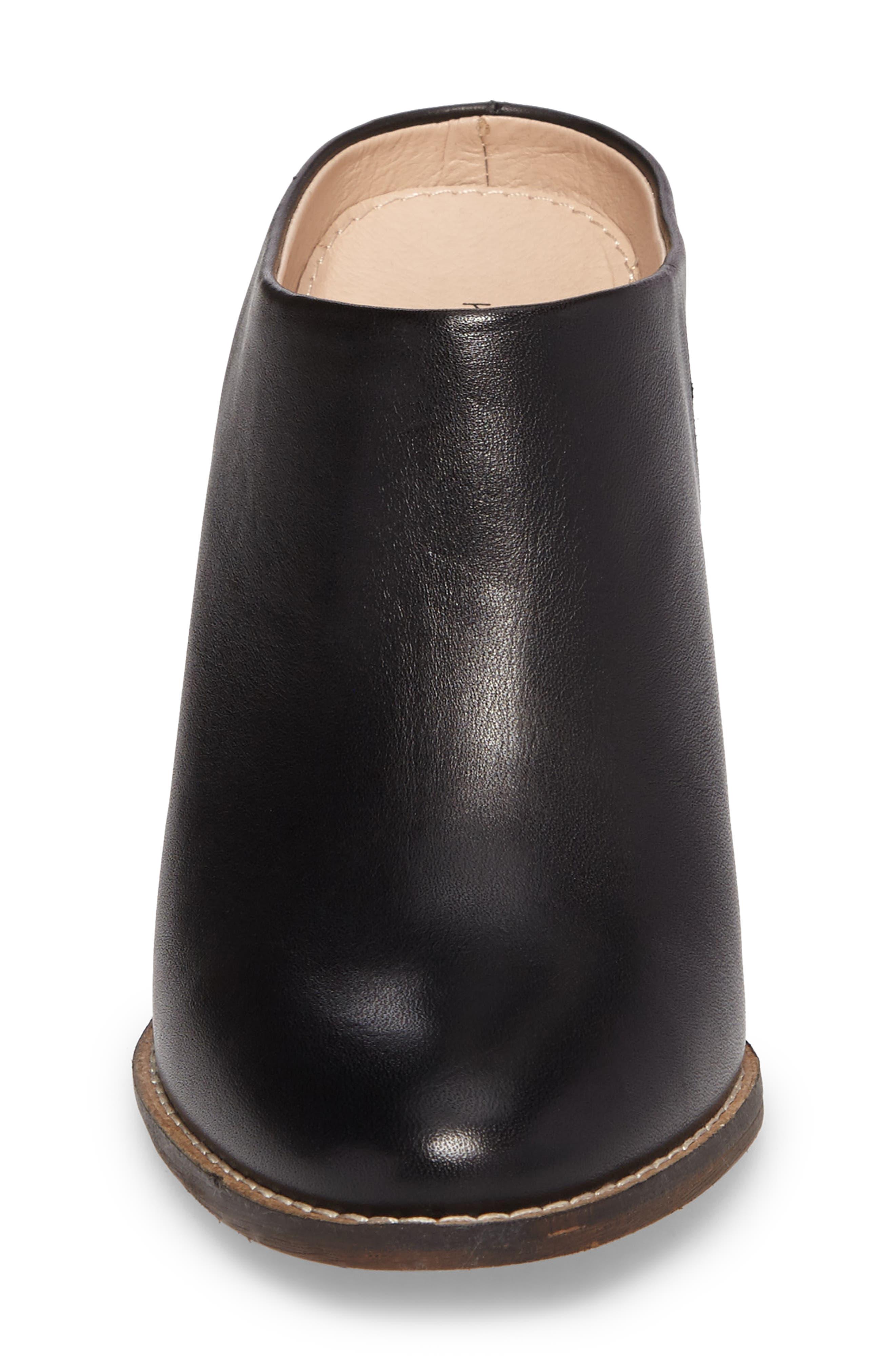 Hocking Mule,                             Alternate thumbnail 4, color,                             Black Leather