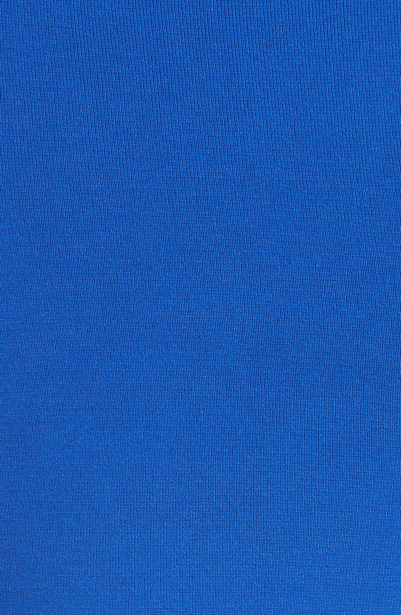 Contrast Stitch Knit Dress,                             Alternate thumbnail 5, color,                             Royal Blue/ Light Blue