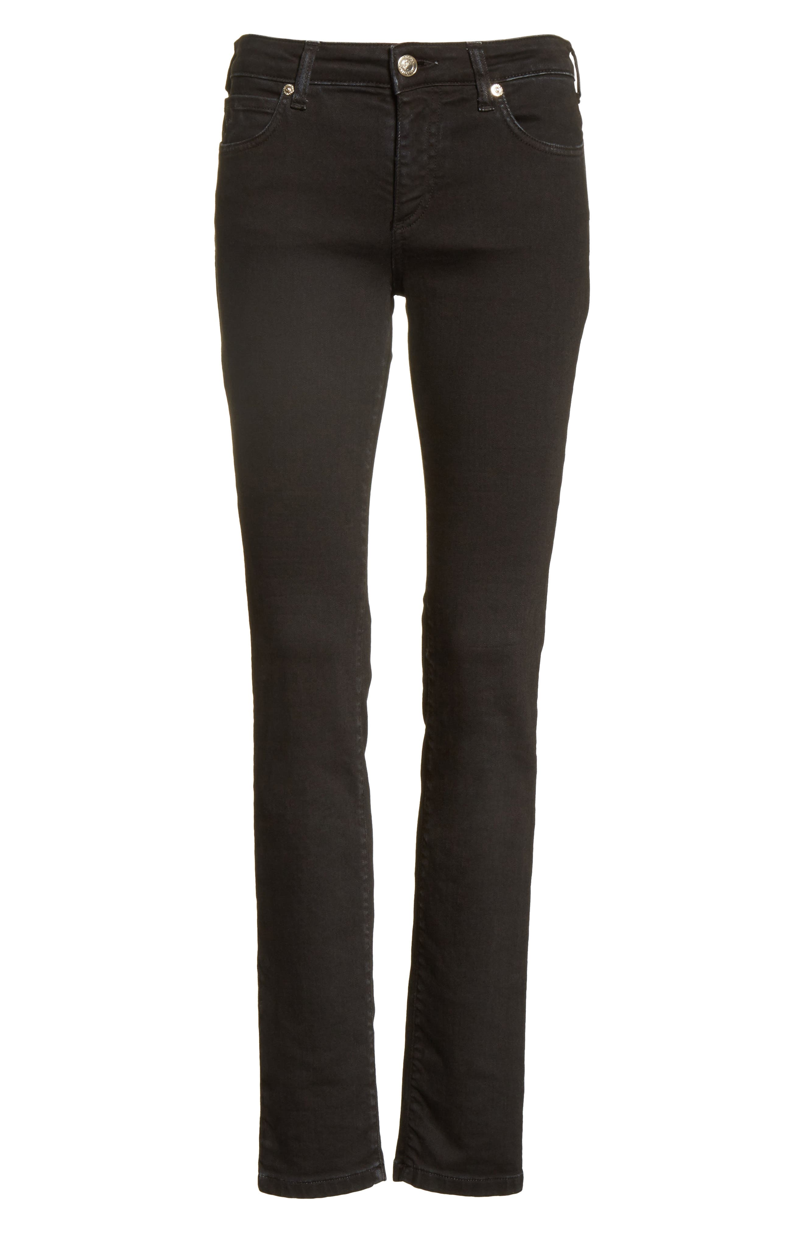 Alternate Image 10  - Versace Collection Embellished Pocket Skinny Jeans