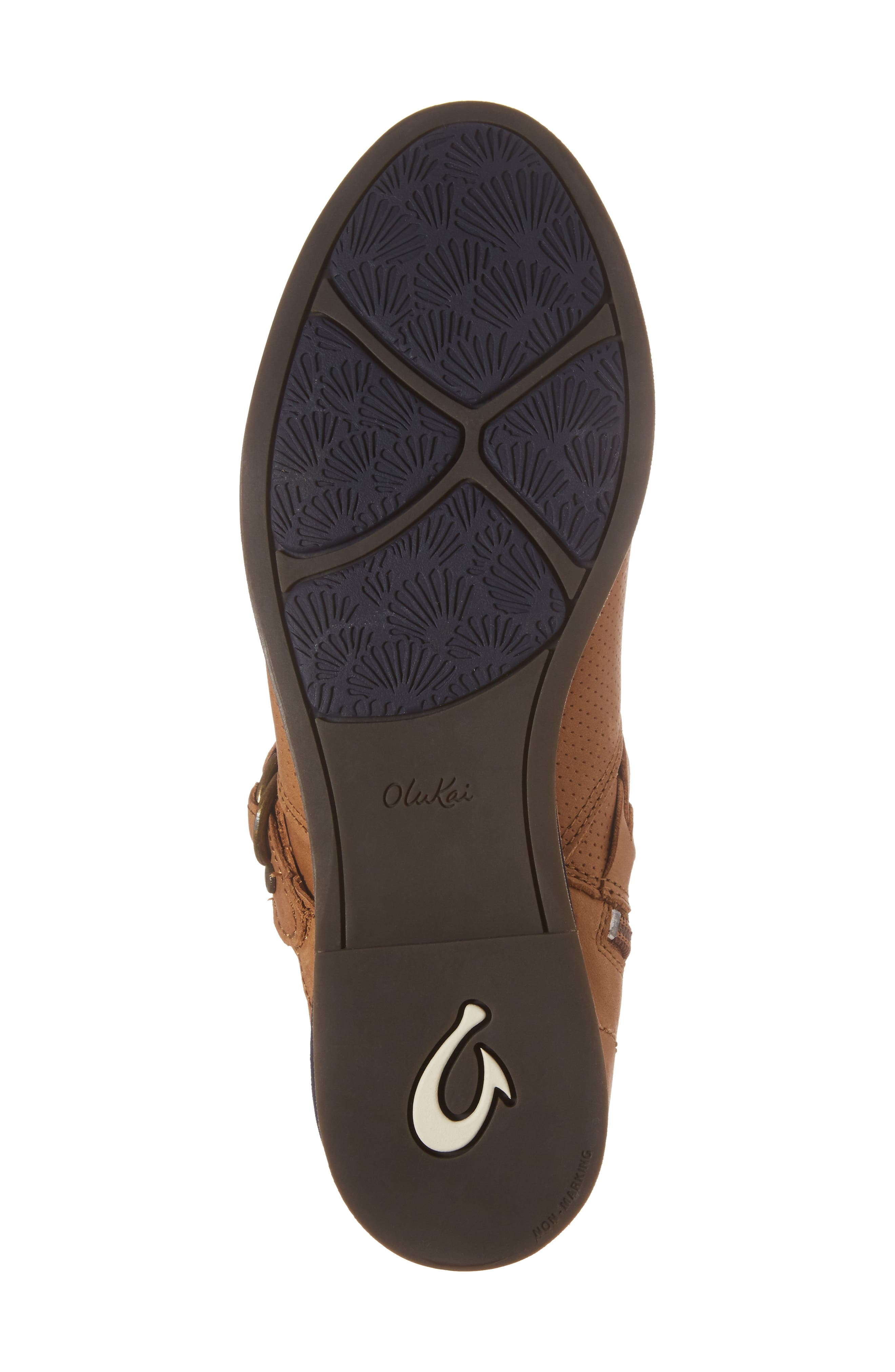 Ho'olu Perforated Bootie,                             Alternate thumbnail 6, color,                             Pecan/ Pecan Leather
