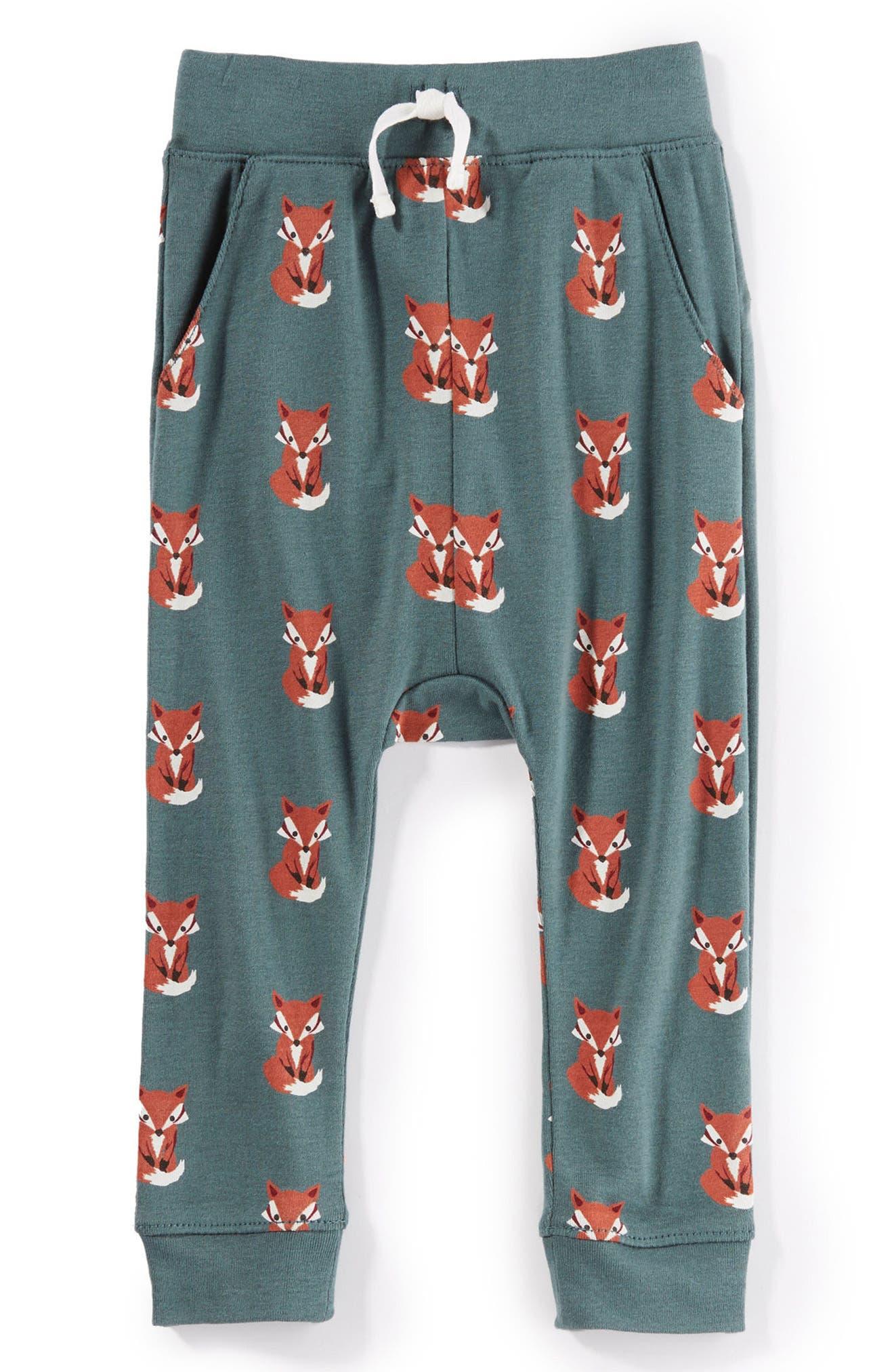 Peek Baby Fox Sweatpants,                             Main thumbnail 1, color,                             Balsam