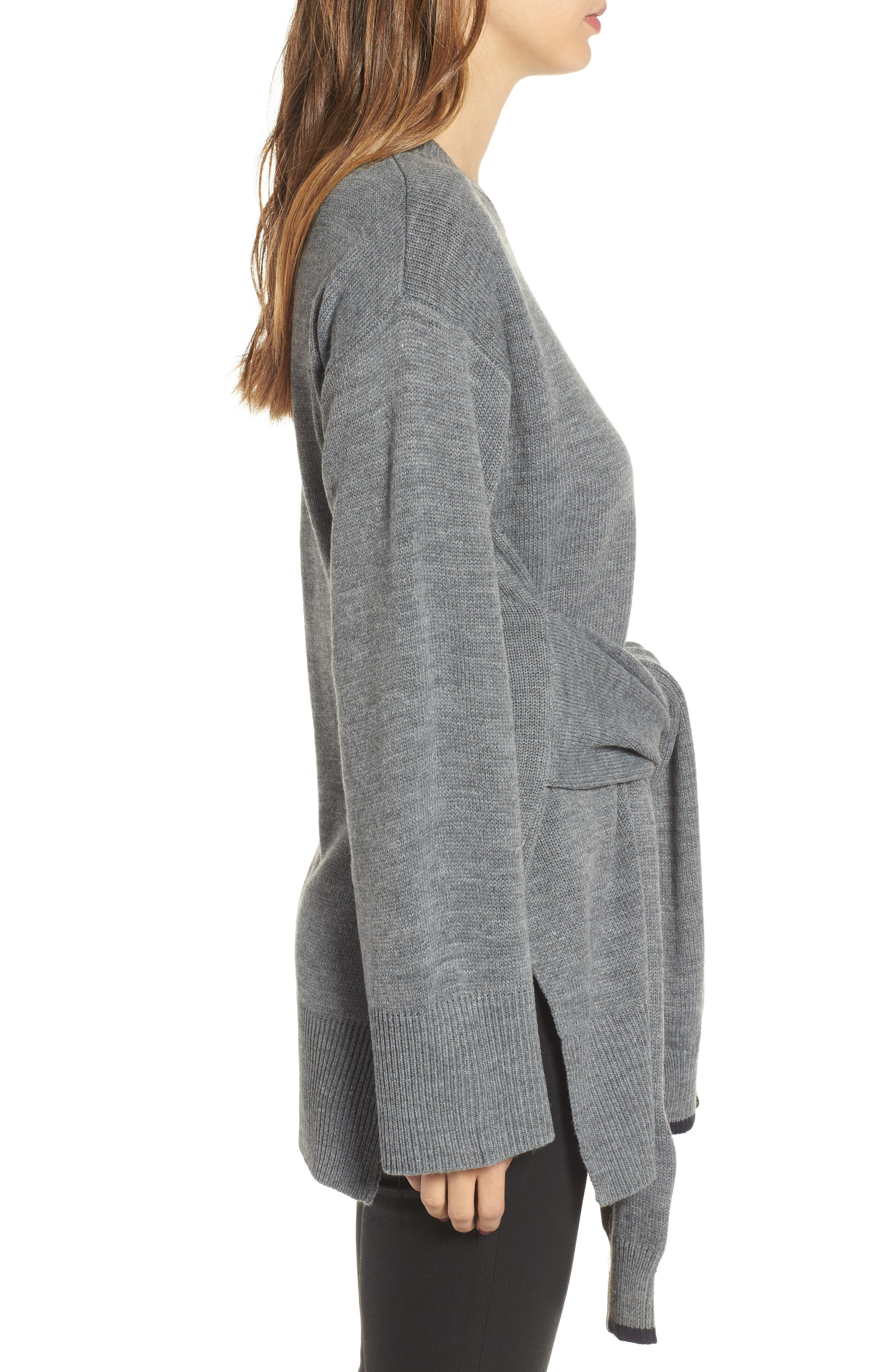 Alternate Image 3  - J.O.A. Tie Front Sweater