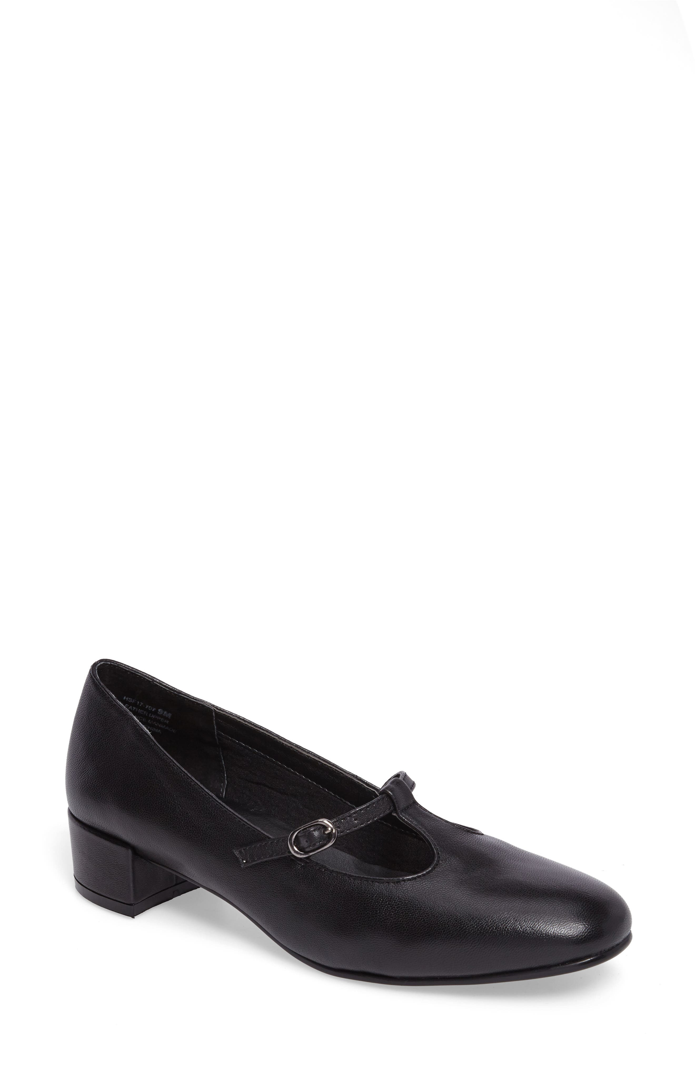 Emma Pump,                         Main,                         color, Black Leather