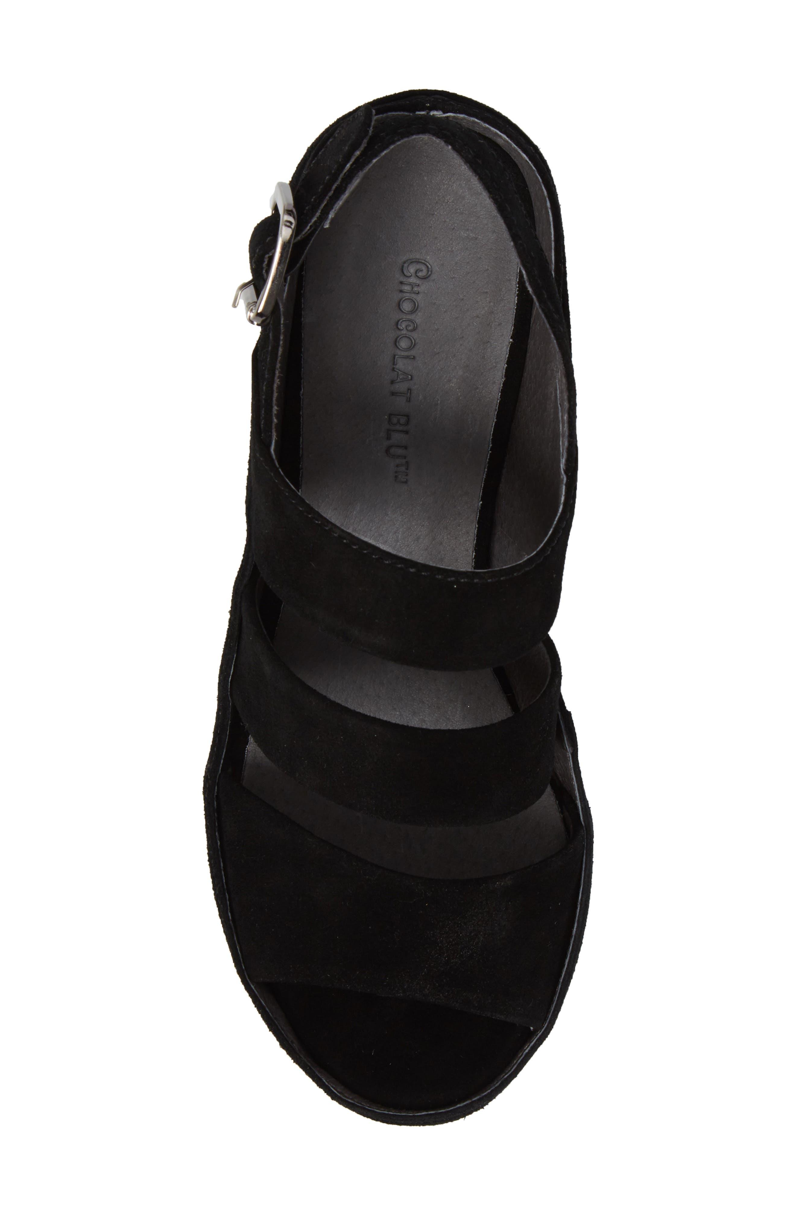 Alternate Image 5  - Chocolat Blu Windsor Platform Wedge Sandal (Women)