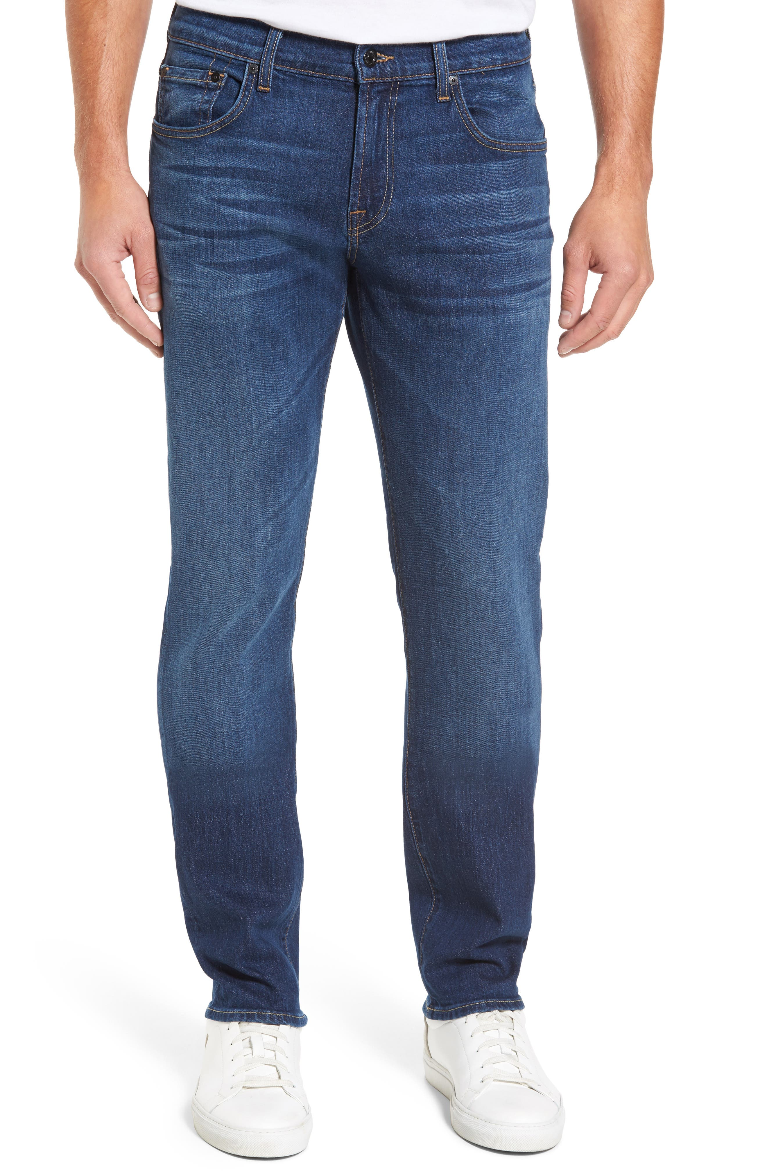 Main Image - 7 For All Mankind® The Straight Slim Straight Leg Jeans (Dimension)