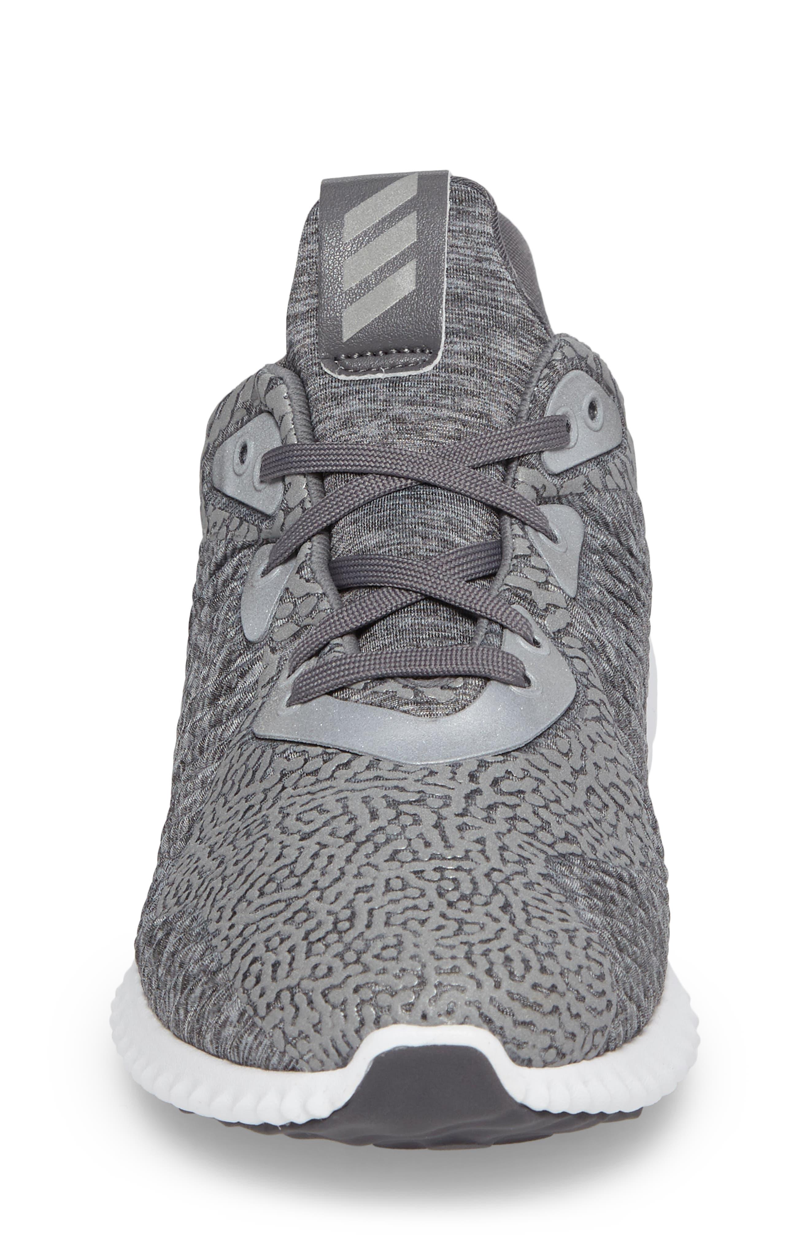 AlphaBounce Sneaker,                             Alternate thumbnail 4, color,                             Medium Grey Heather