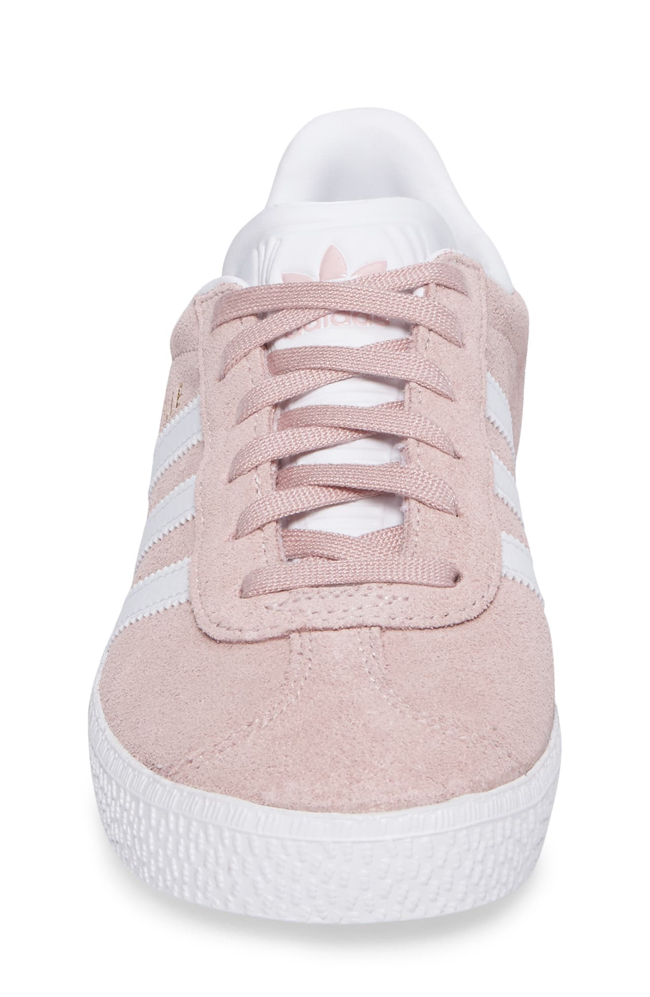 Gazelle Sneaker,                             Alternate thumbnail 4, color,                             Icy Pink/ White/ Gold