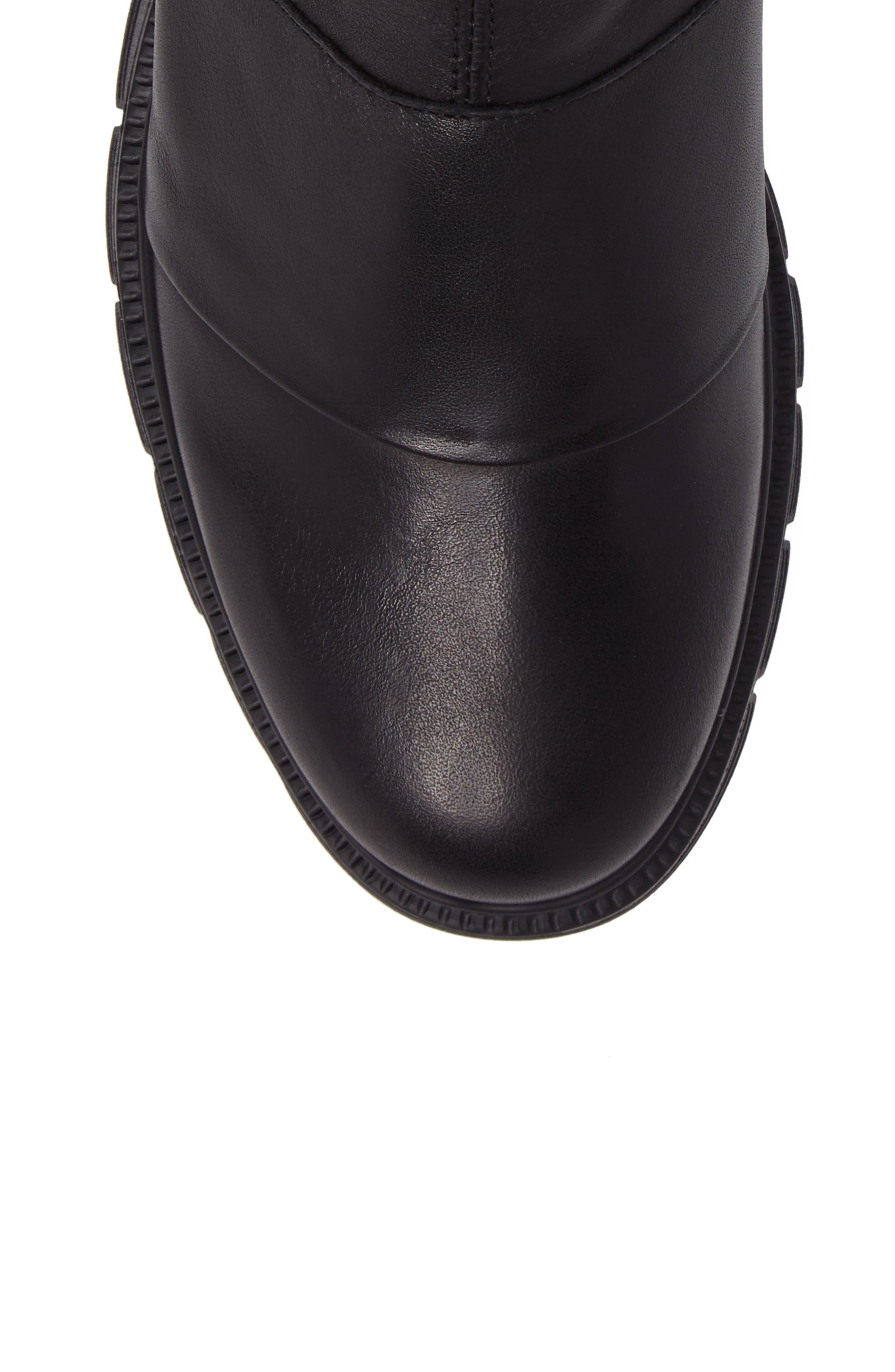 Gish Water-Resistant Bootie,                             Alternate thumbnail 5, color,                             Black Leather