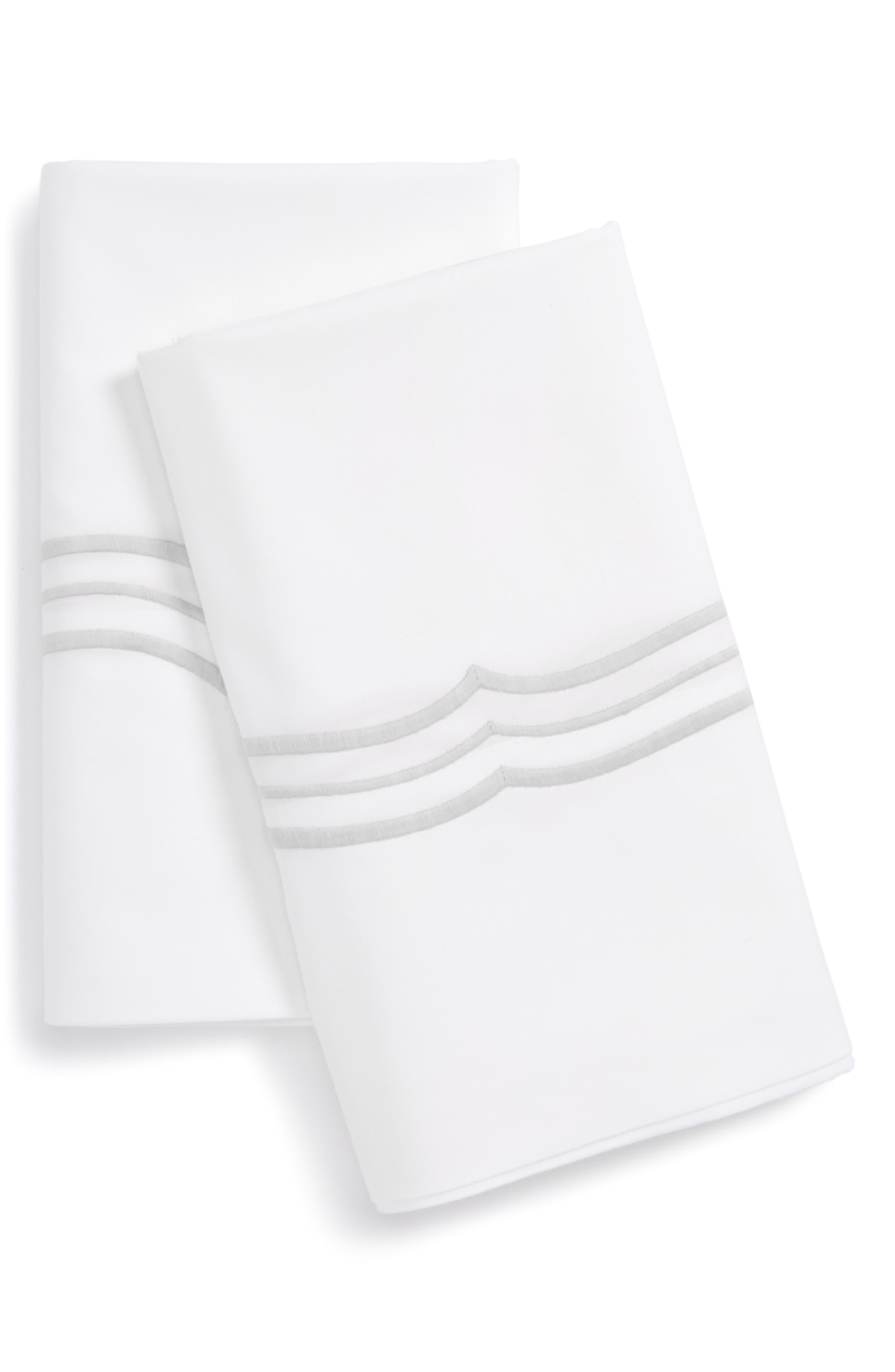 Paola Pillowcases,                         Main,                         color, Silver