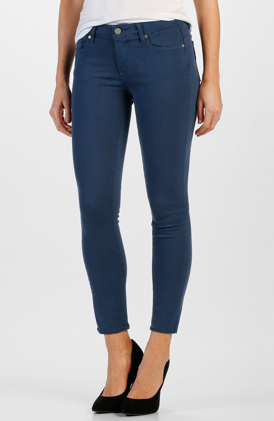 Main Image - Paige Denim 'Verdugo' Ankle Ultra Skinny Jeans (Cornflower Blue)