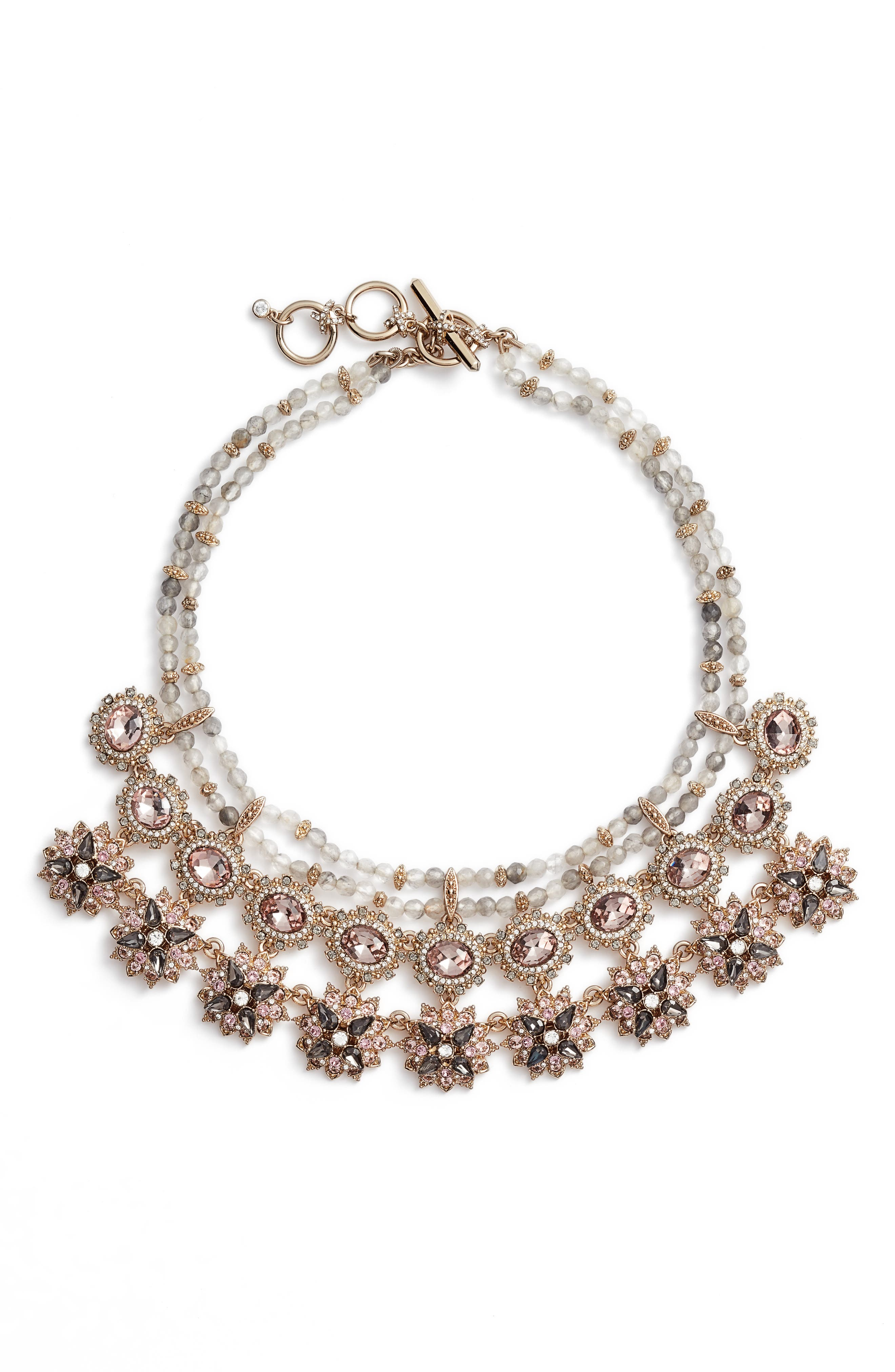 Marchesa Drama Frontal Necklace