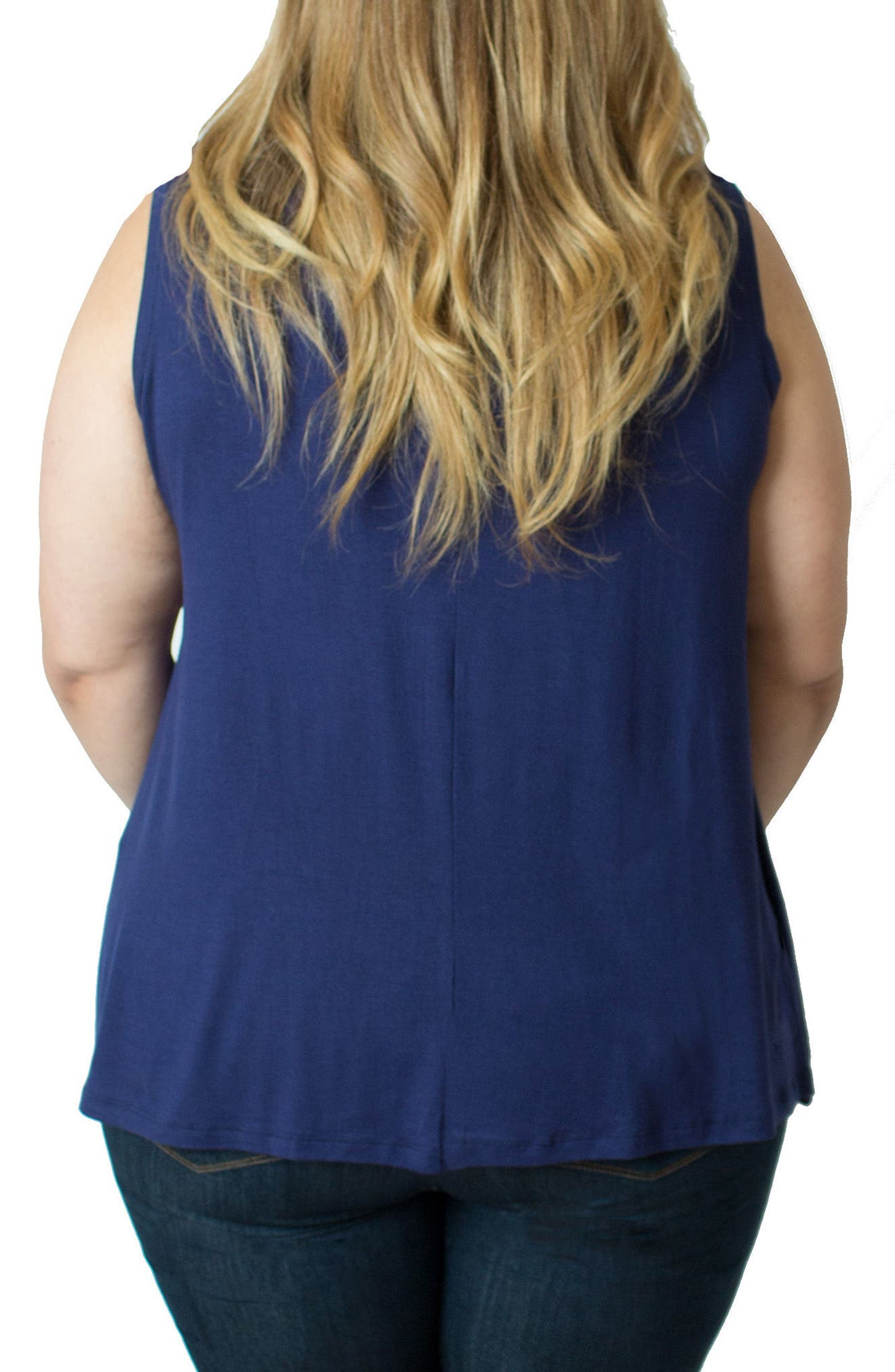 Alternate Image 2  - Udderly Hot Mama Zip Neck Nursing Tank (Plus Size)