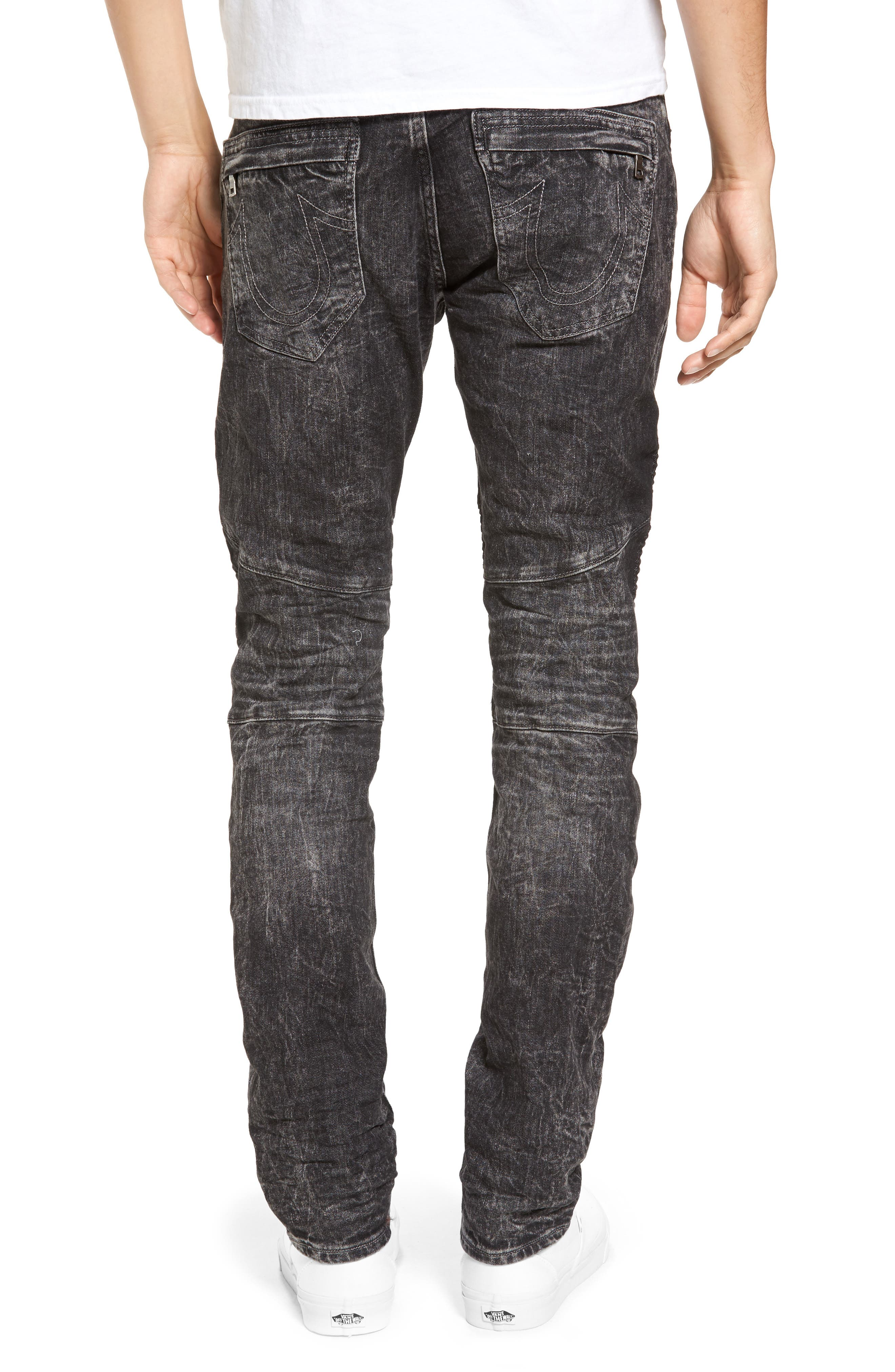 Rocco Skinny Fit Jeans,                             Alternate thumbnail 3, color,                             Dark Raven