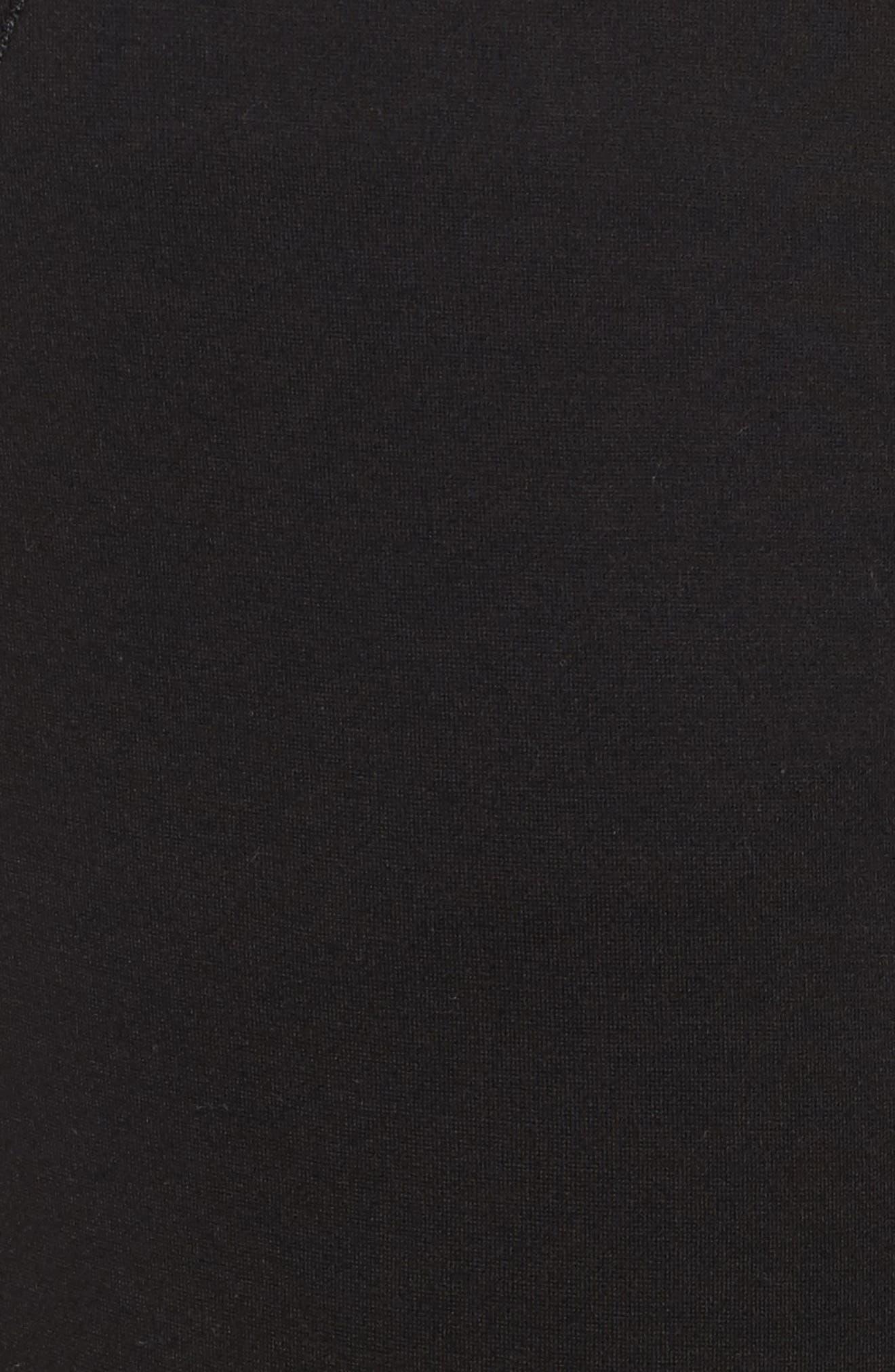 Seamed Leggings,                             Alternate thumbnail 5, color,                             Black
