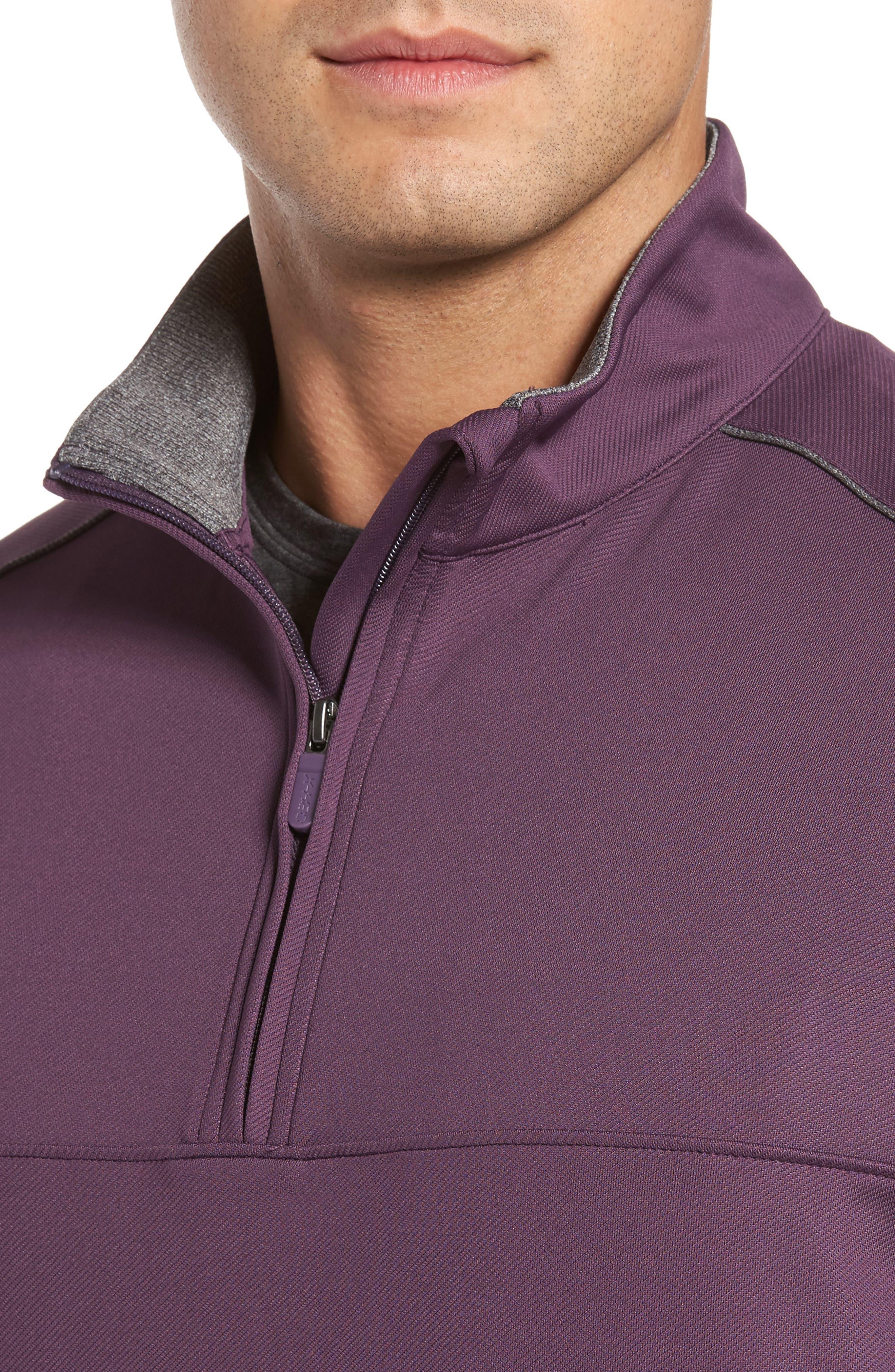 XH20 Banded Bottom Pullover,                             Alternate thumbnail 4, color,                             Blackberry