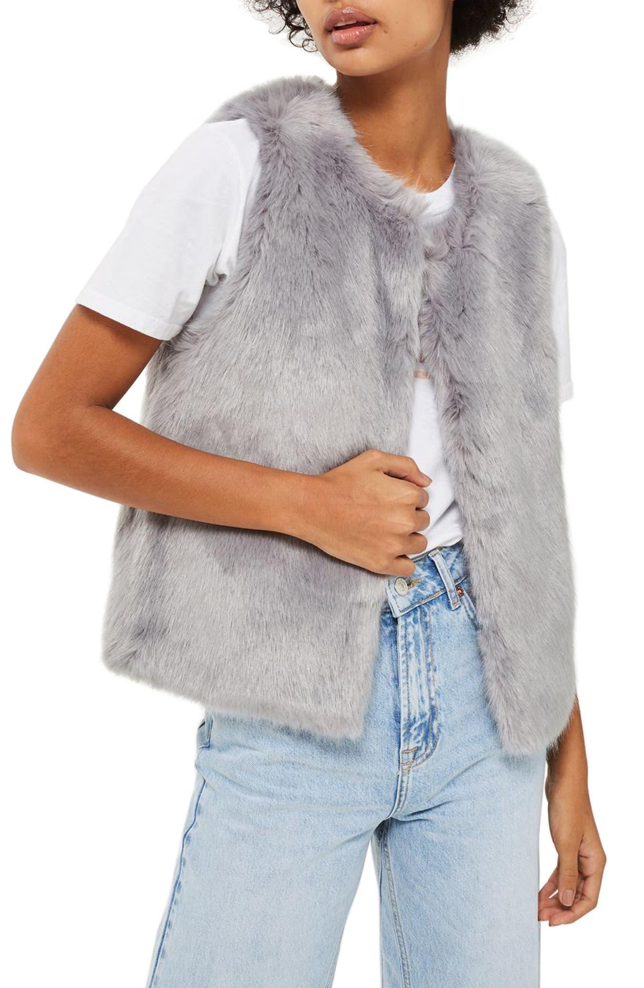 Alternate Image 3  - Topshop Clair Faux Fur Vest