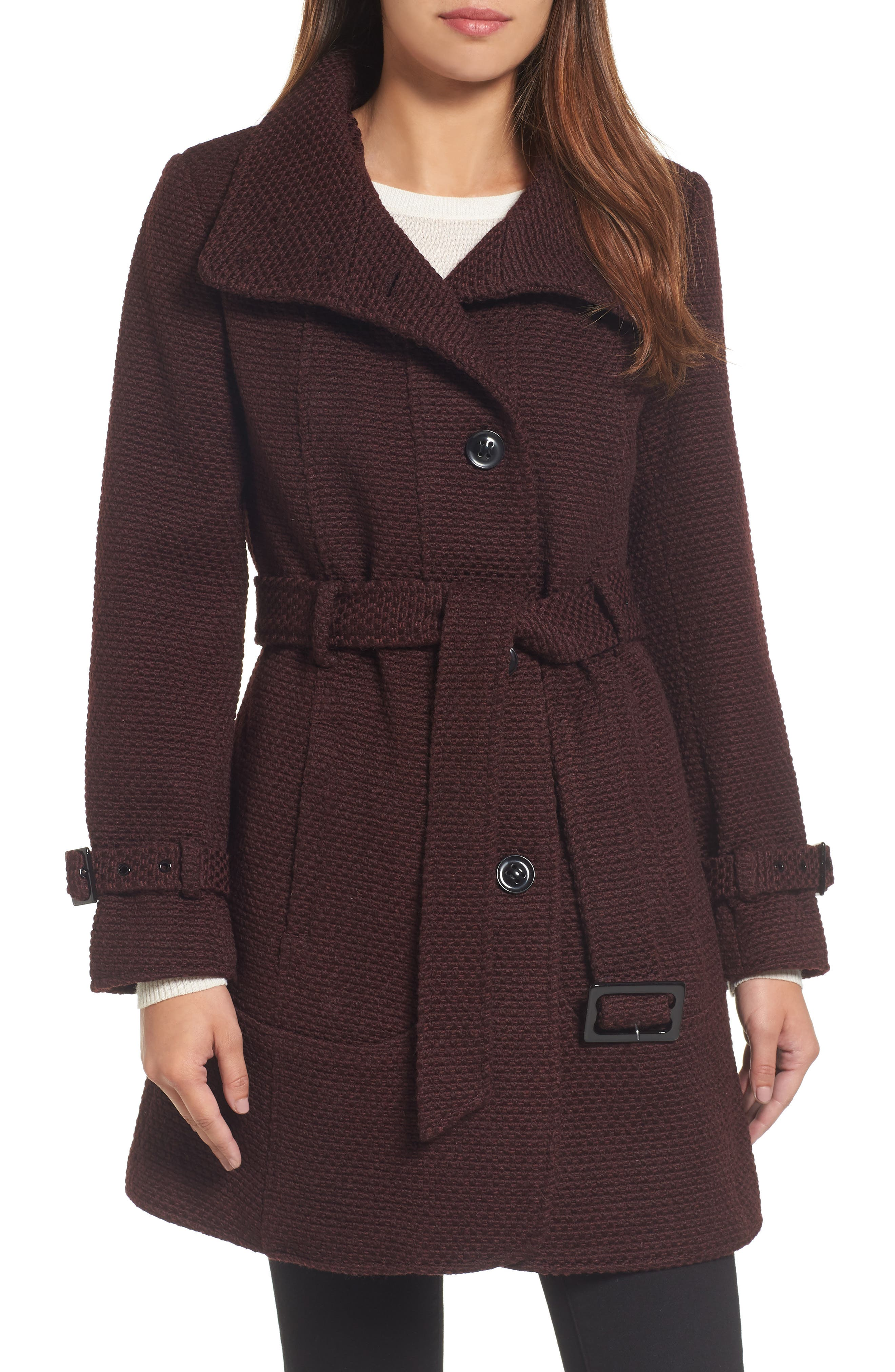 Gallery Waffle Woven Coat