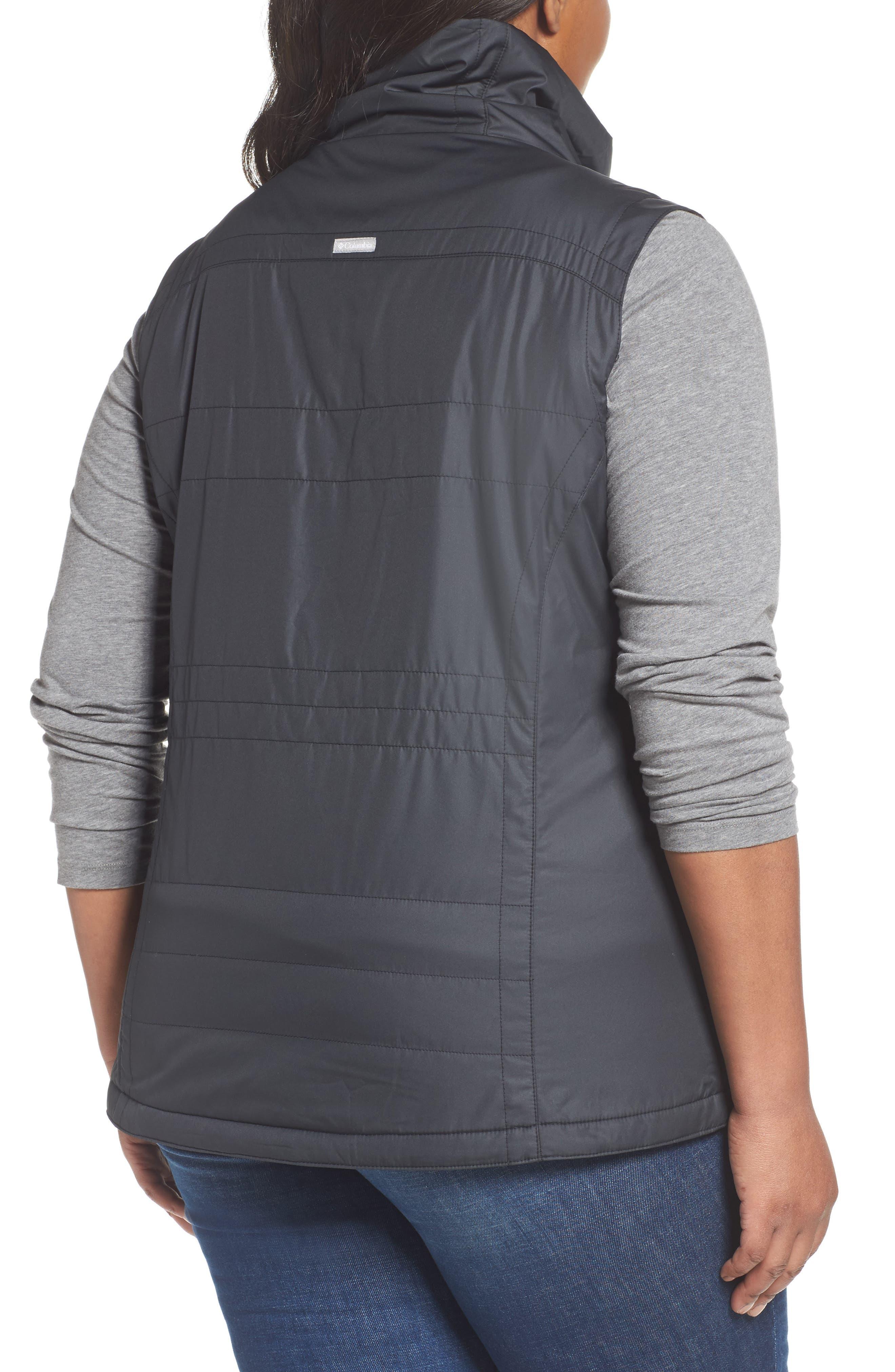 Shining Light II Quilted Vest,                             Alternate thumbnail 2, color,                             Black