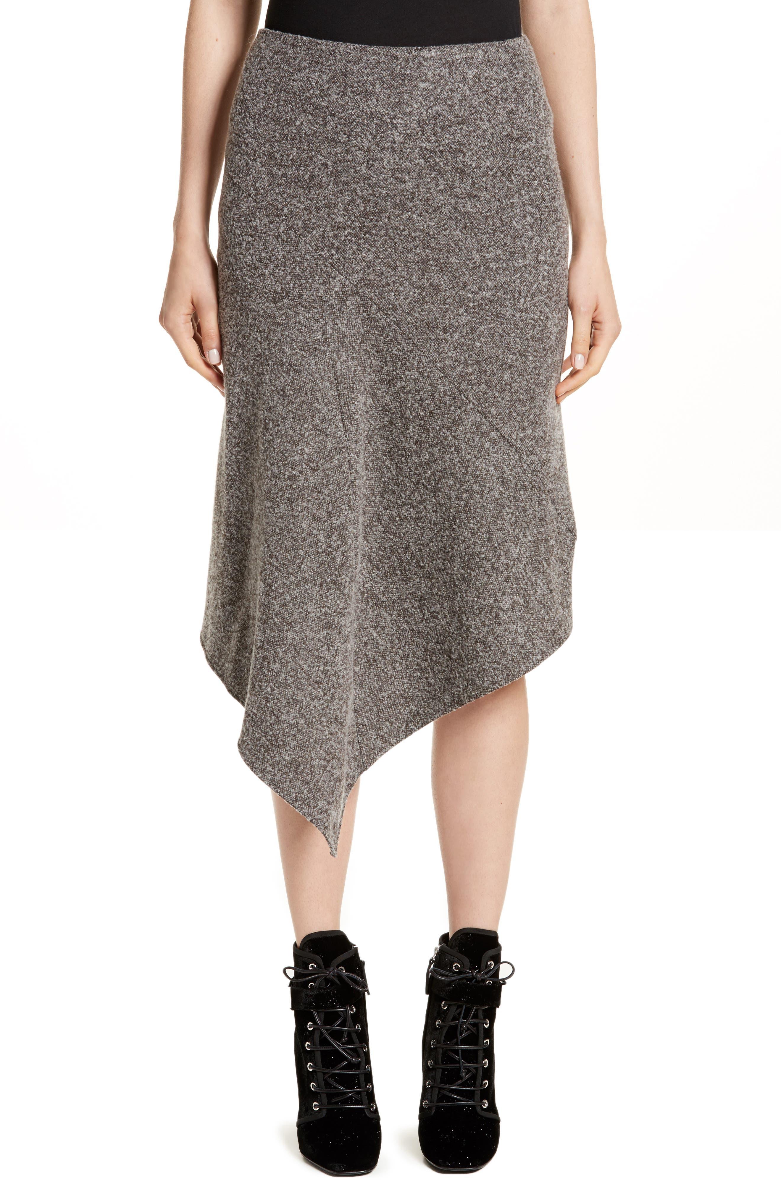 Galaxy Tweed Asymmetrical Skirt,                         Main,                         color, Grey