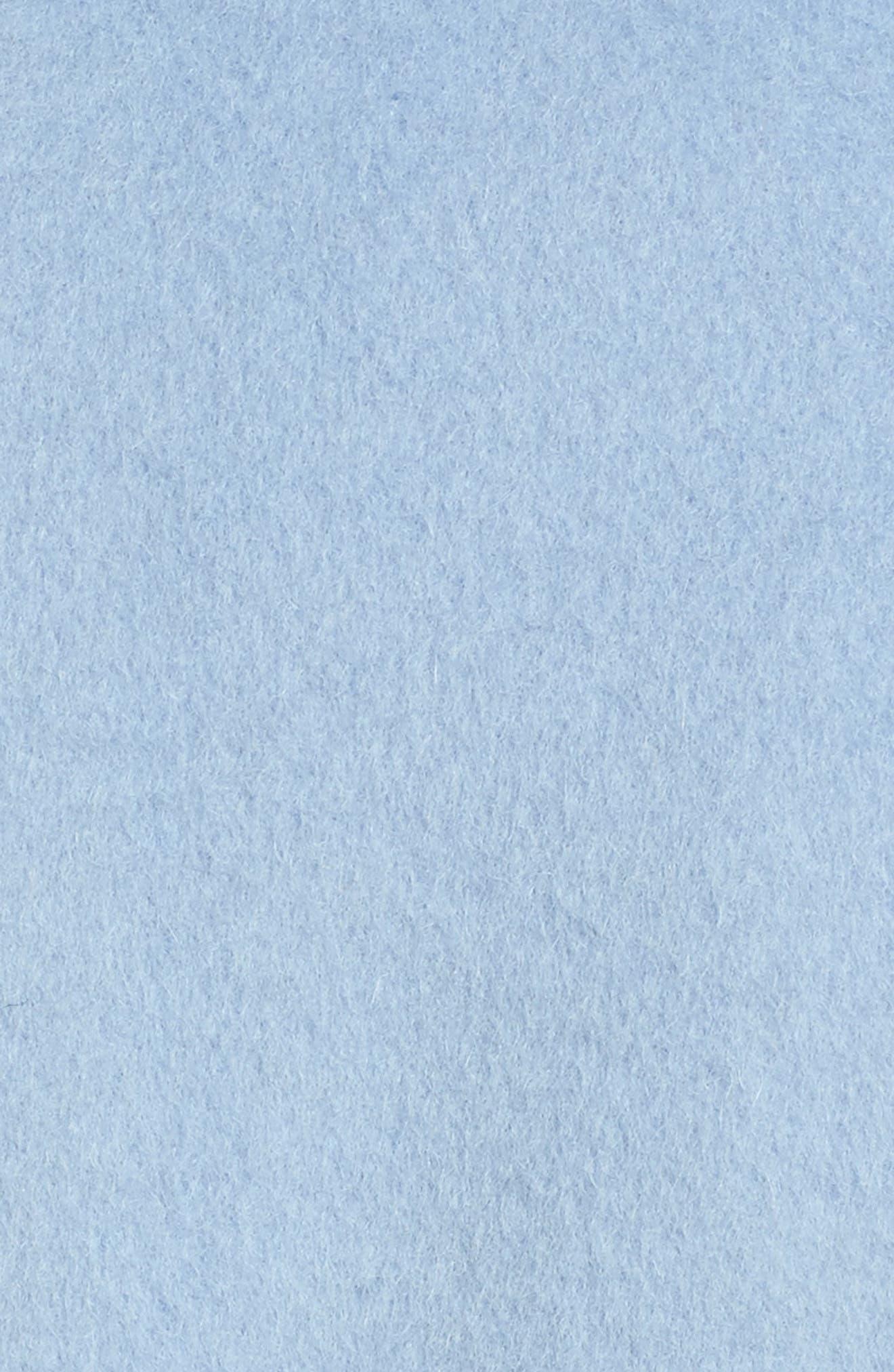 Alpaca Blend Wrap Coat,                             Alternate thumbnail 5, color,                             Periwinkle