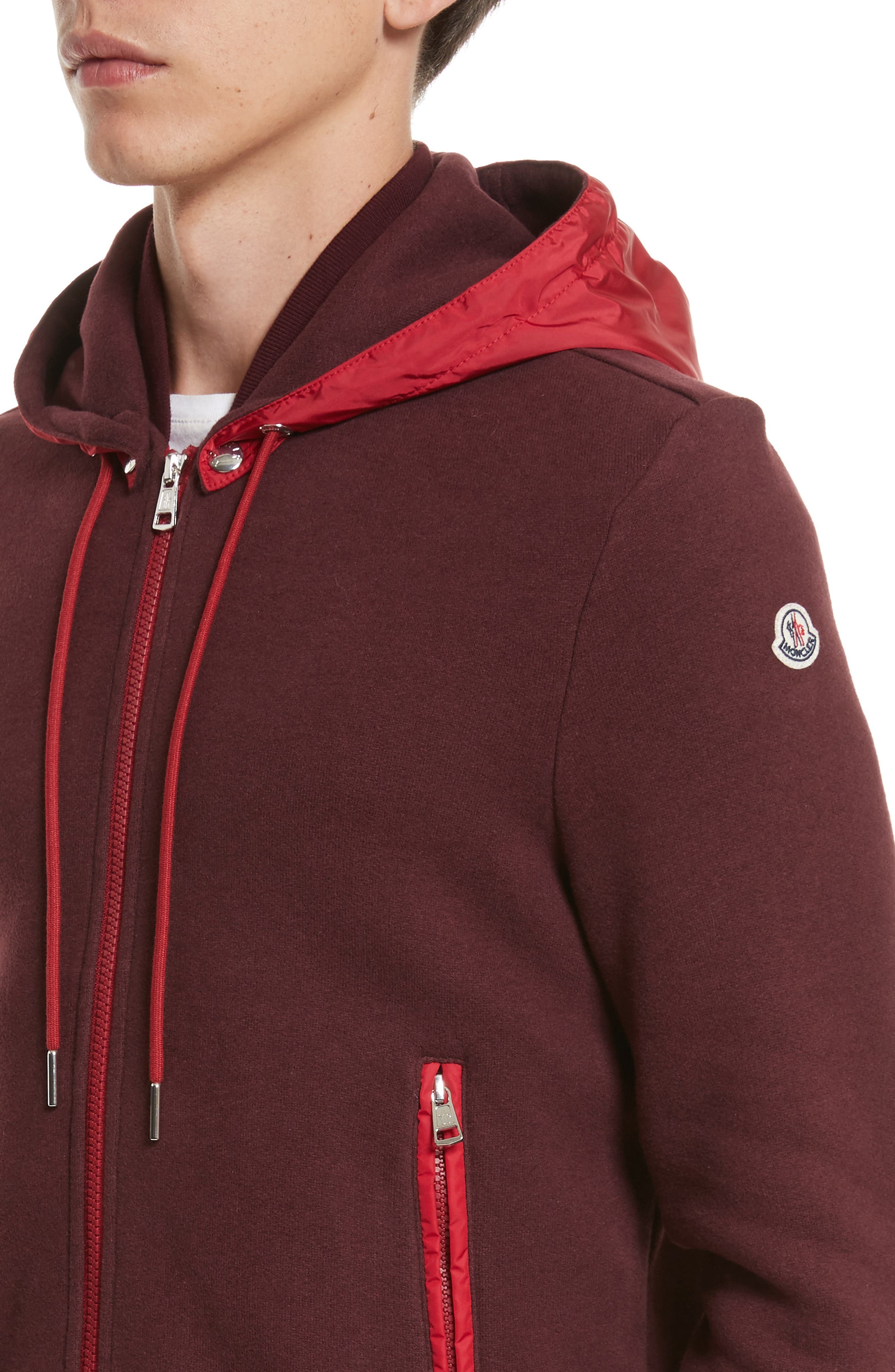 Alternate Image 4  - Moncler Maglia Knit Bomber with Removable Hood