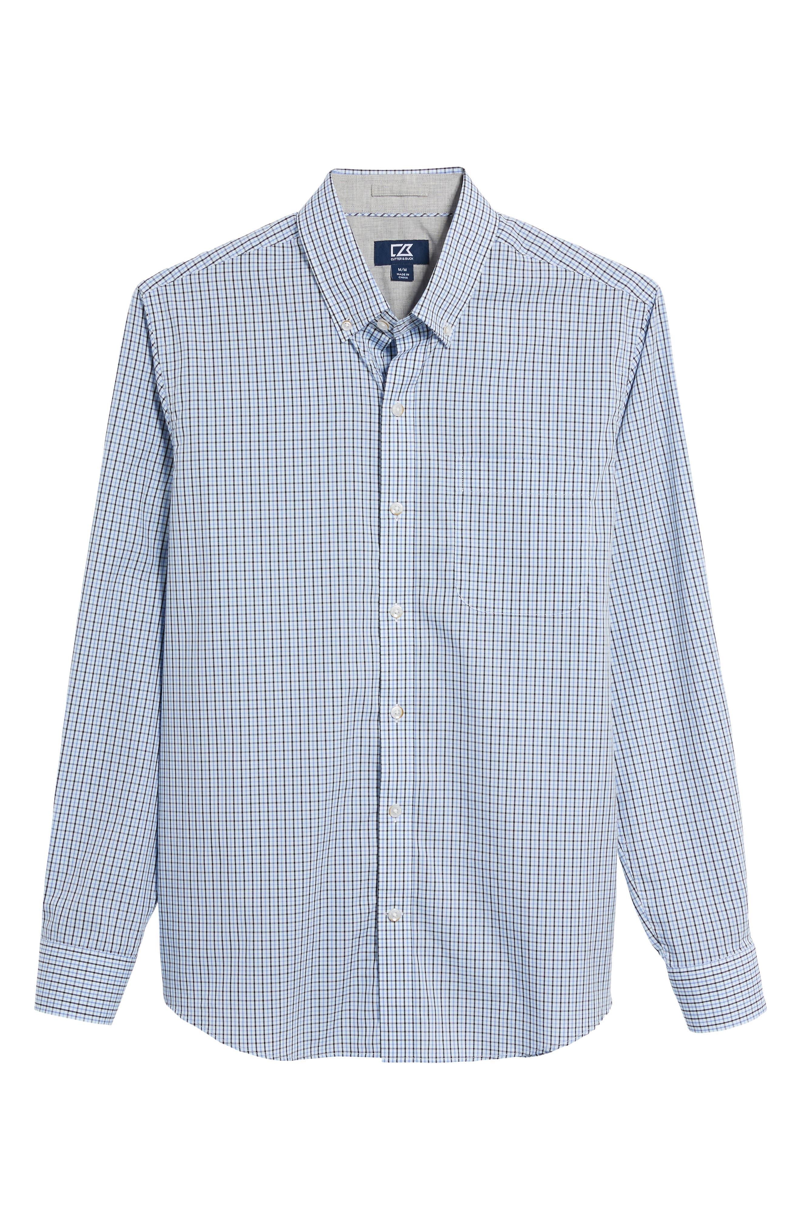 Easton Check Non-Iron Sport Shirt,                             Alternate thumbnail 6, color,                             Wisteria
