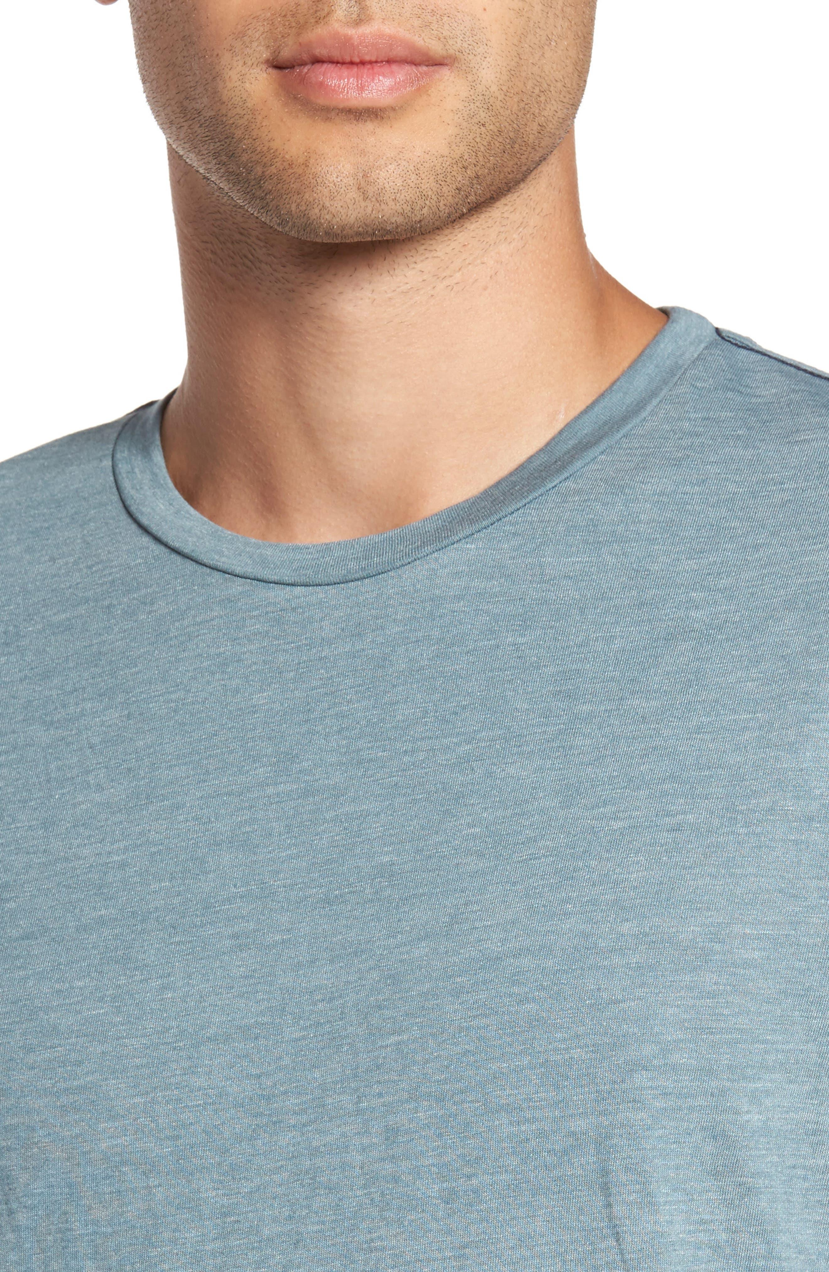 Scallop Triblend Crewneck T-Shirt,                             Alternate thumbnail 4, color,                             Real Teal