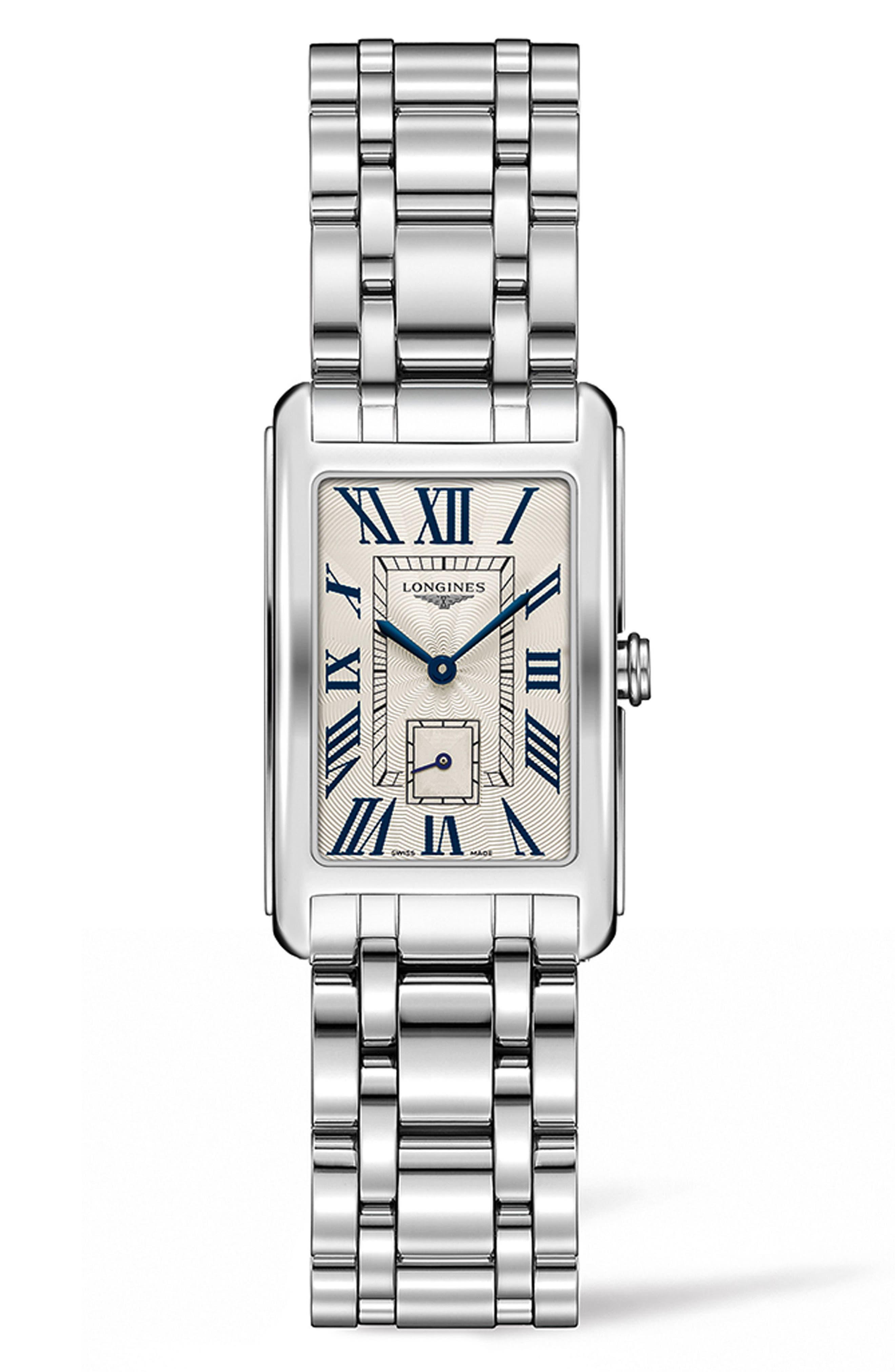 DolceVita Bracelet Watch, 23mm x 37mm,                         Main,                         color, Silver