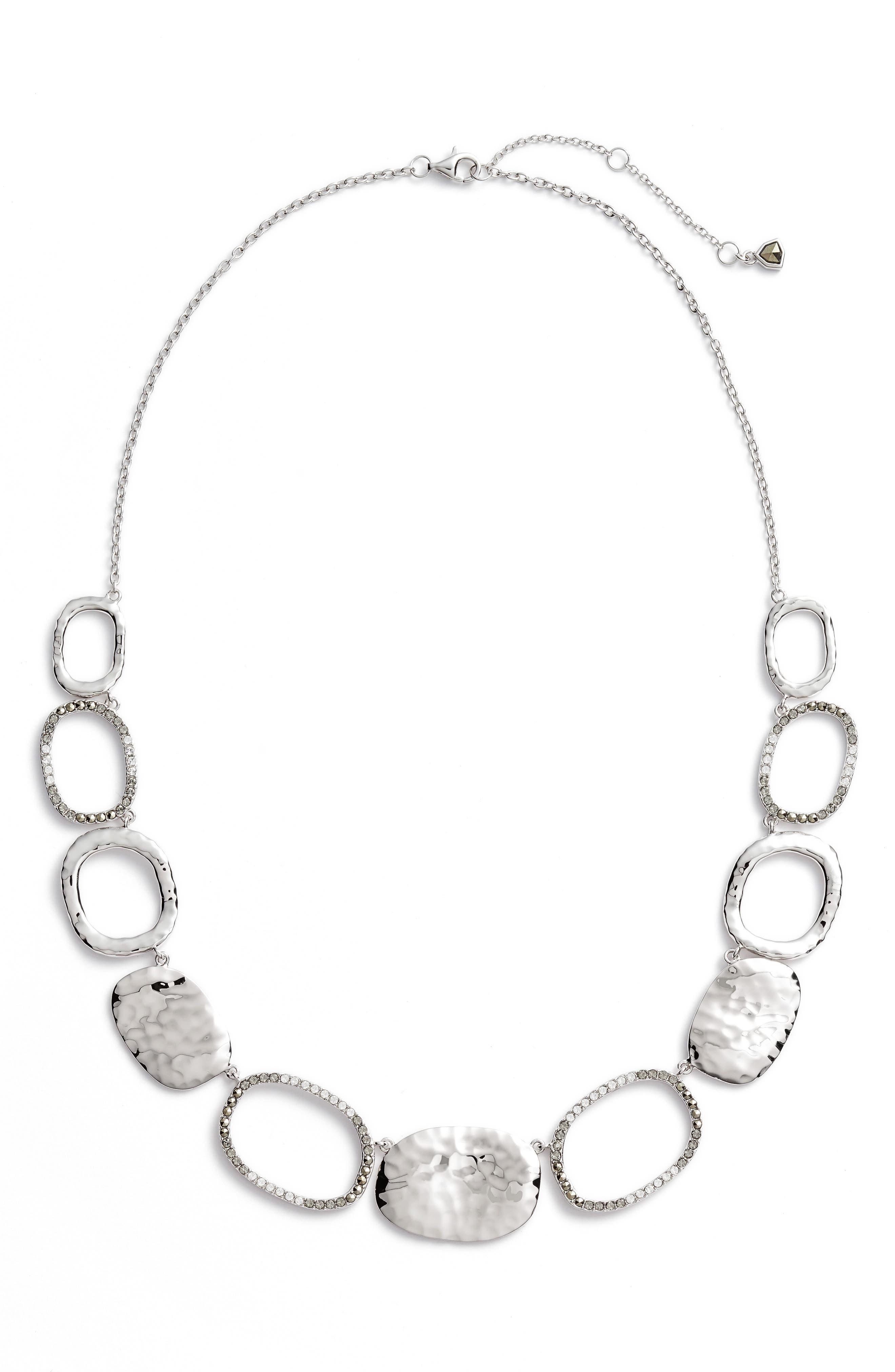 Collar Necklace,                         Main,                         color, Silver