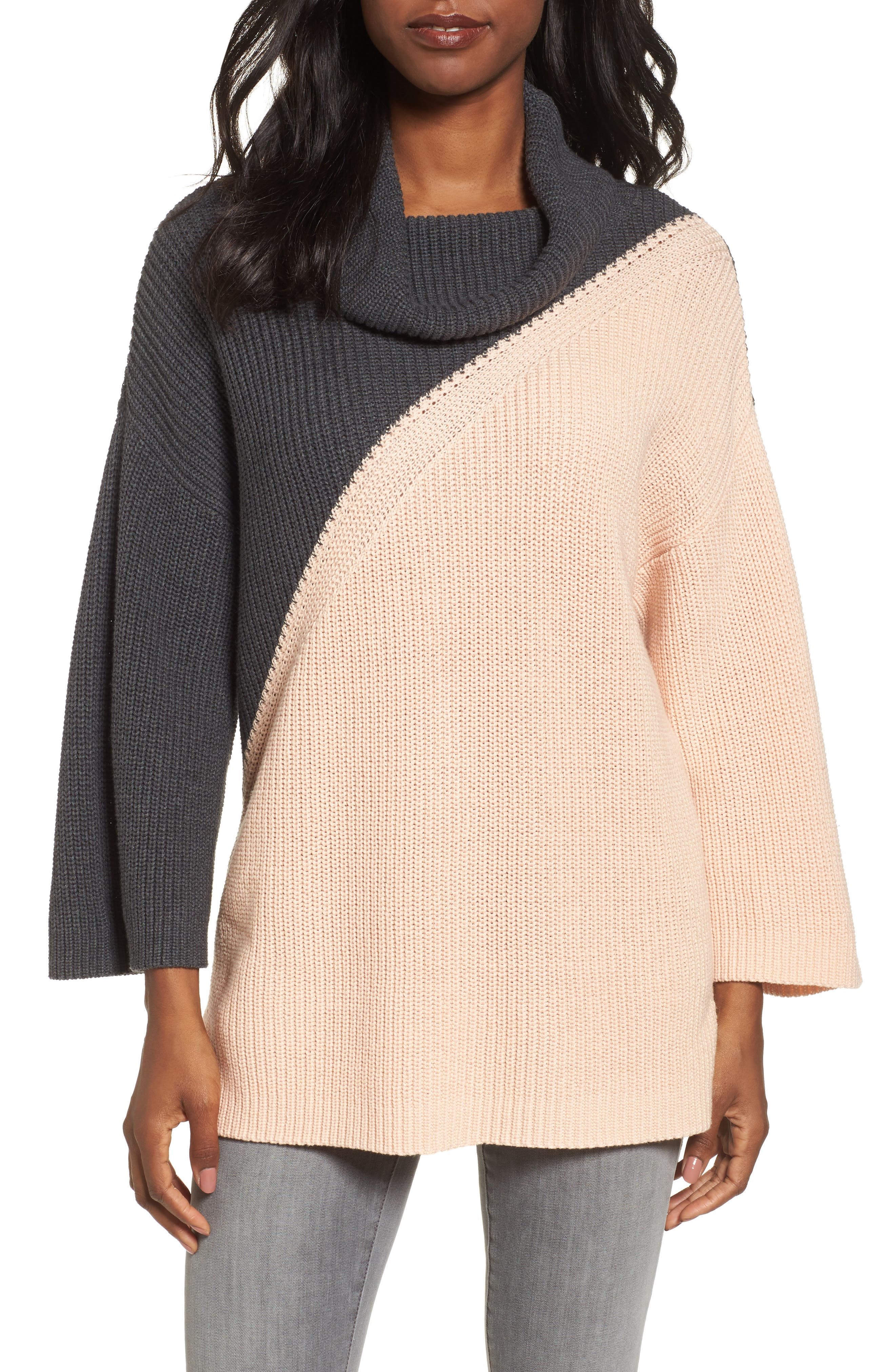 Main Image - Chaus Colorblock Cowl Neck Sweater