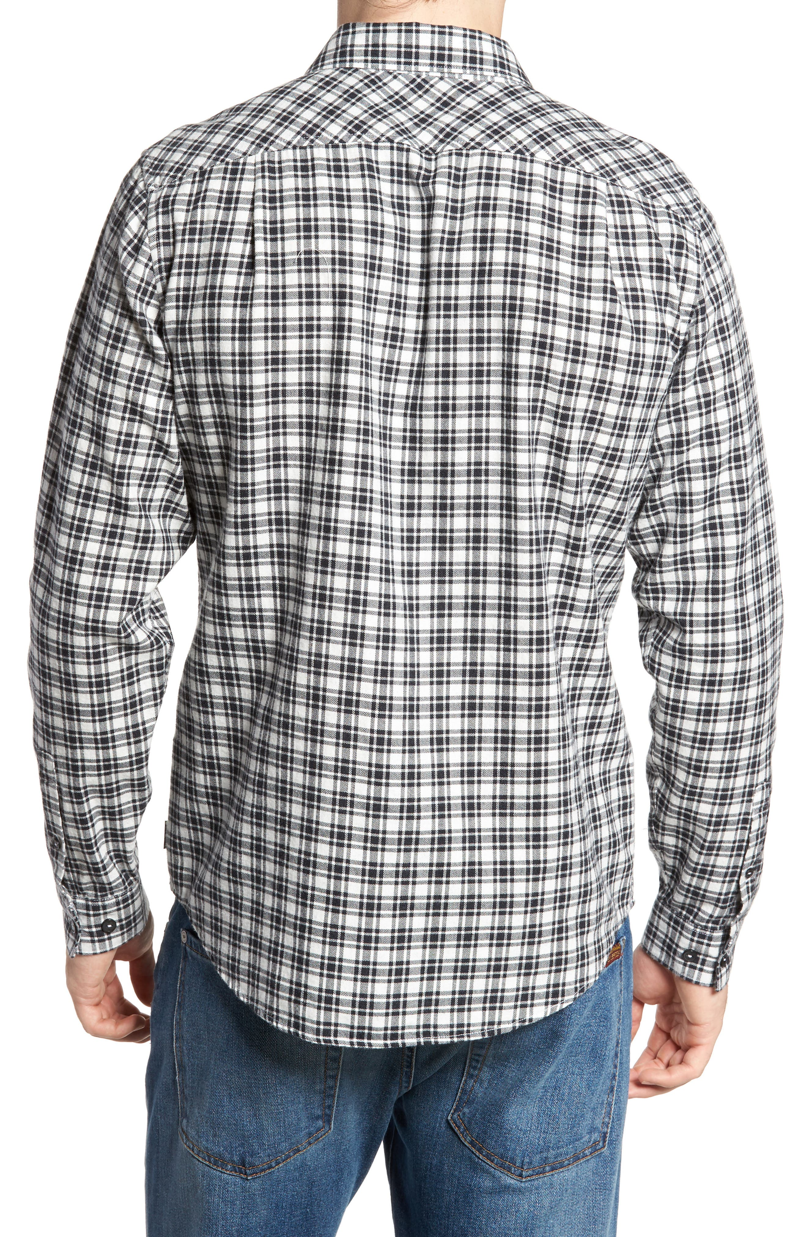 Alternate Image 2  - RVCA Hayes Plaid Flannel Sport Shirt
