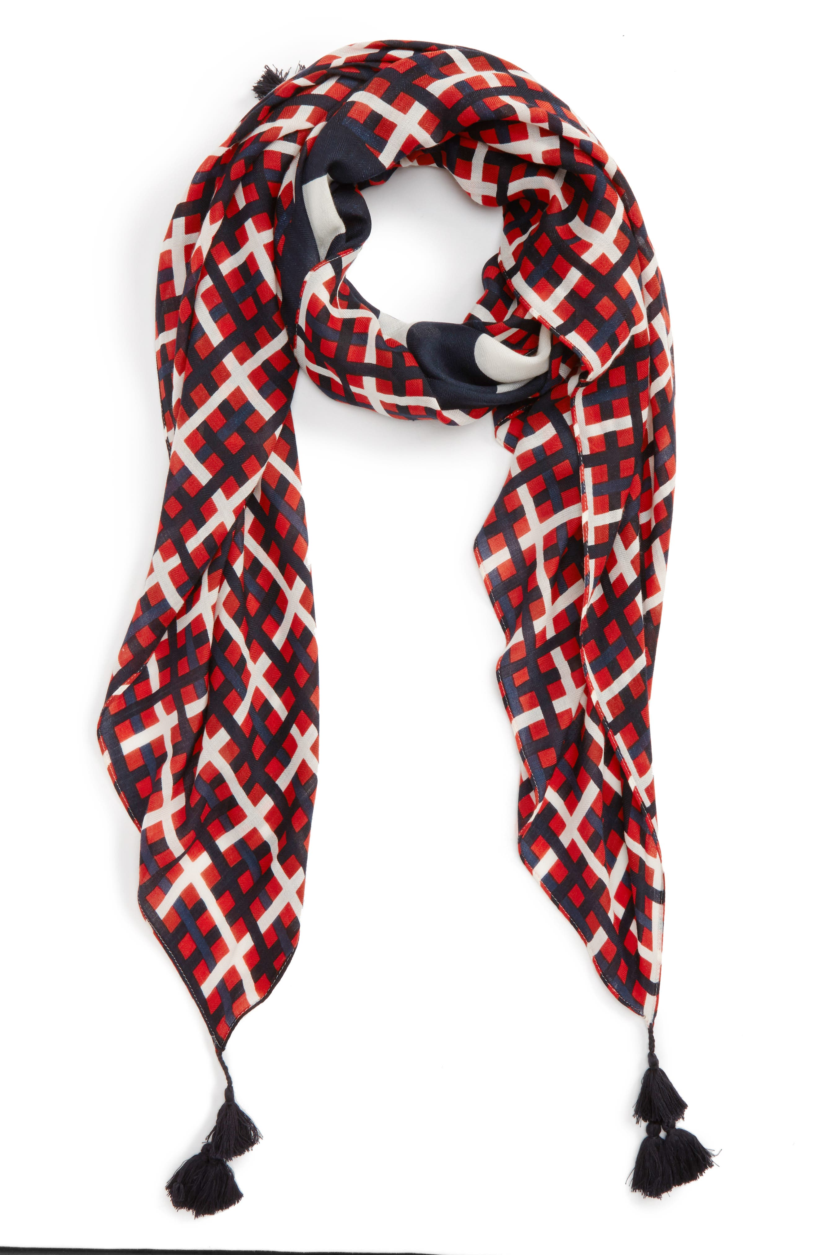 Alternate Image 1 Selected - Tory Burch Princess Plaid Wool Scarf