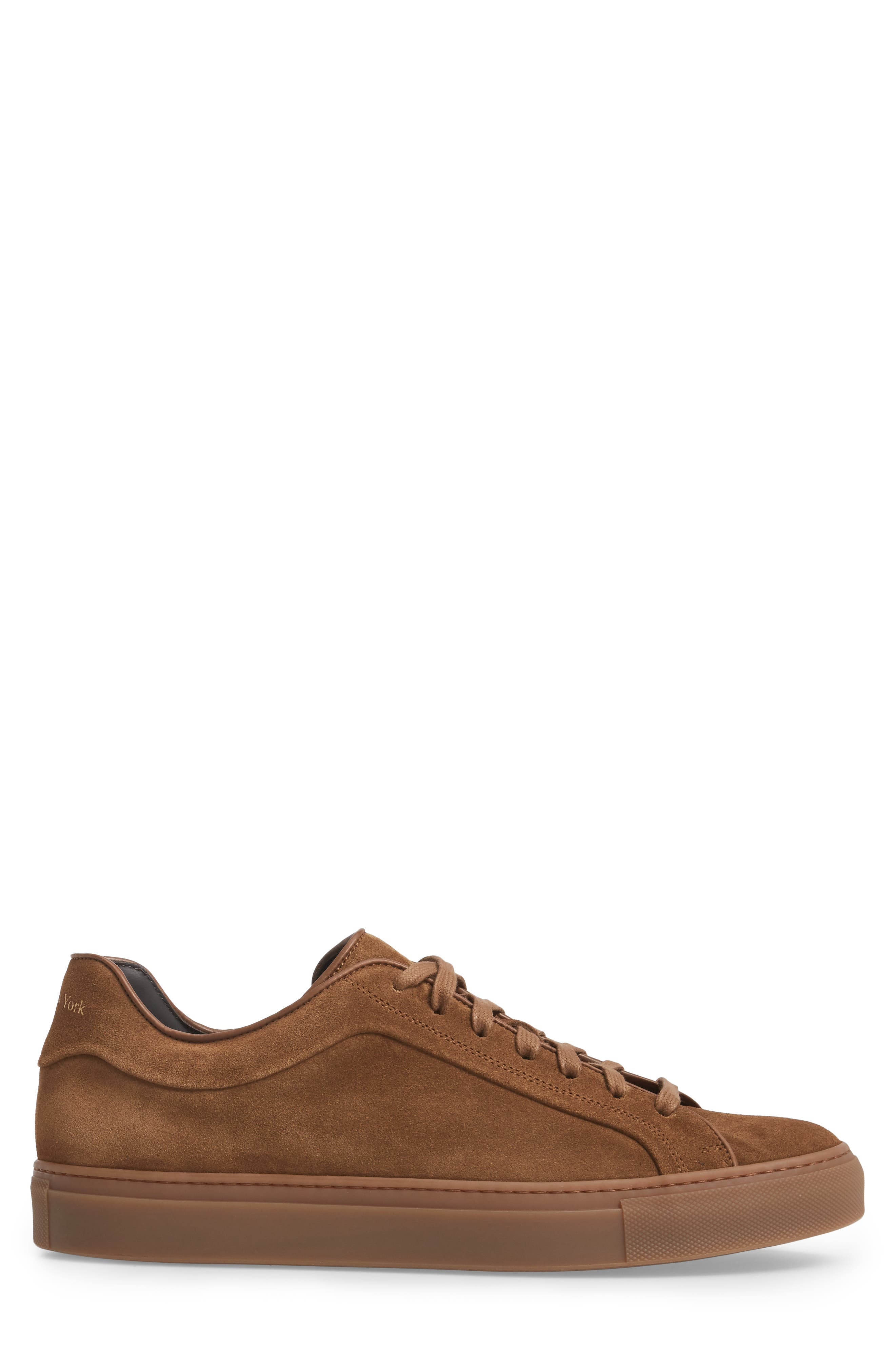 Marshall Sneaker,                             Alternate thumbnail 3, color,                             Brown Suede Leather