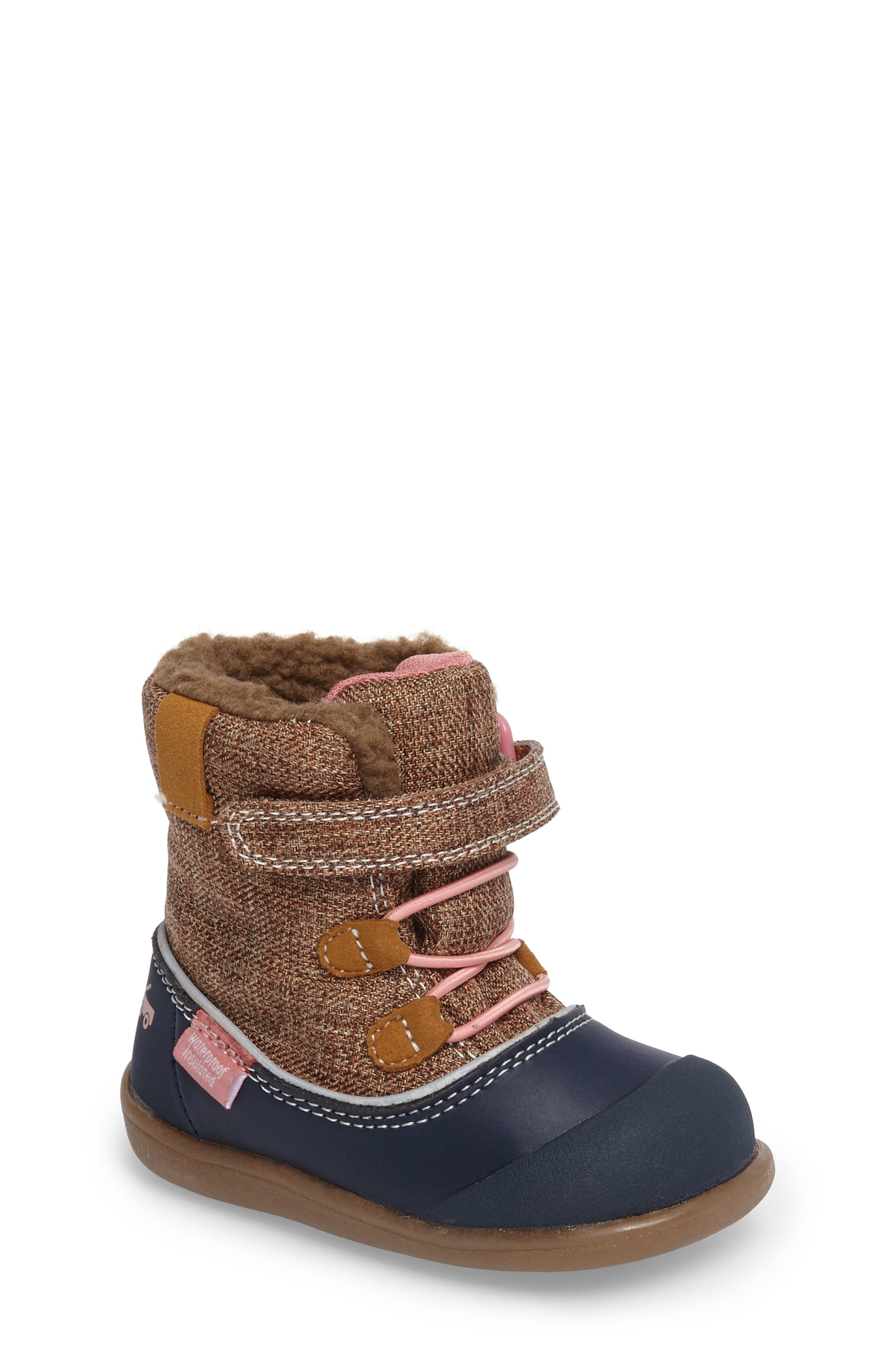 'Abby' Waterproof Boot,                             Main thumbnail 1, color,                             Brown