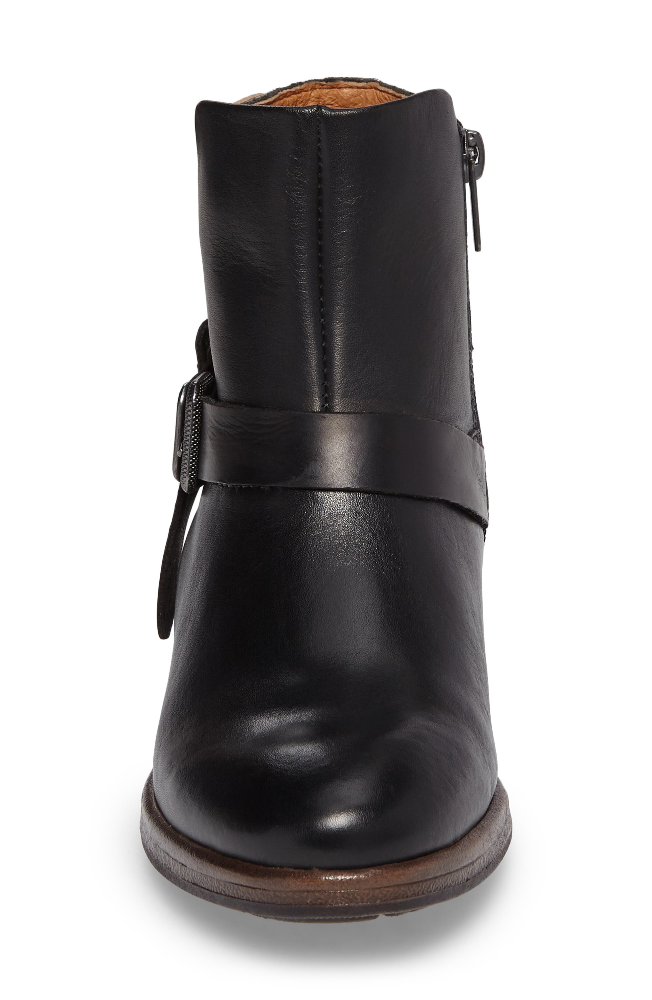 Ordino Bootie,                             Alternate thumbnail 4, color,                             Black Lead Leather