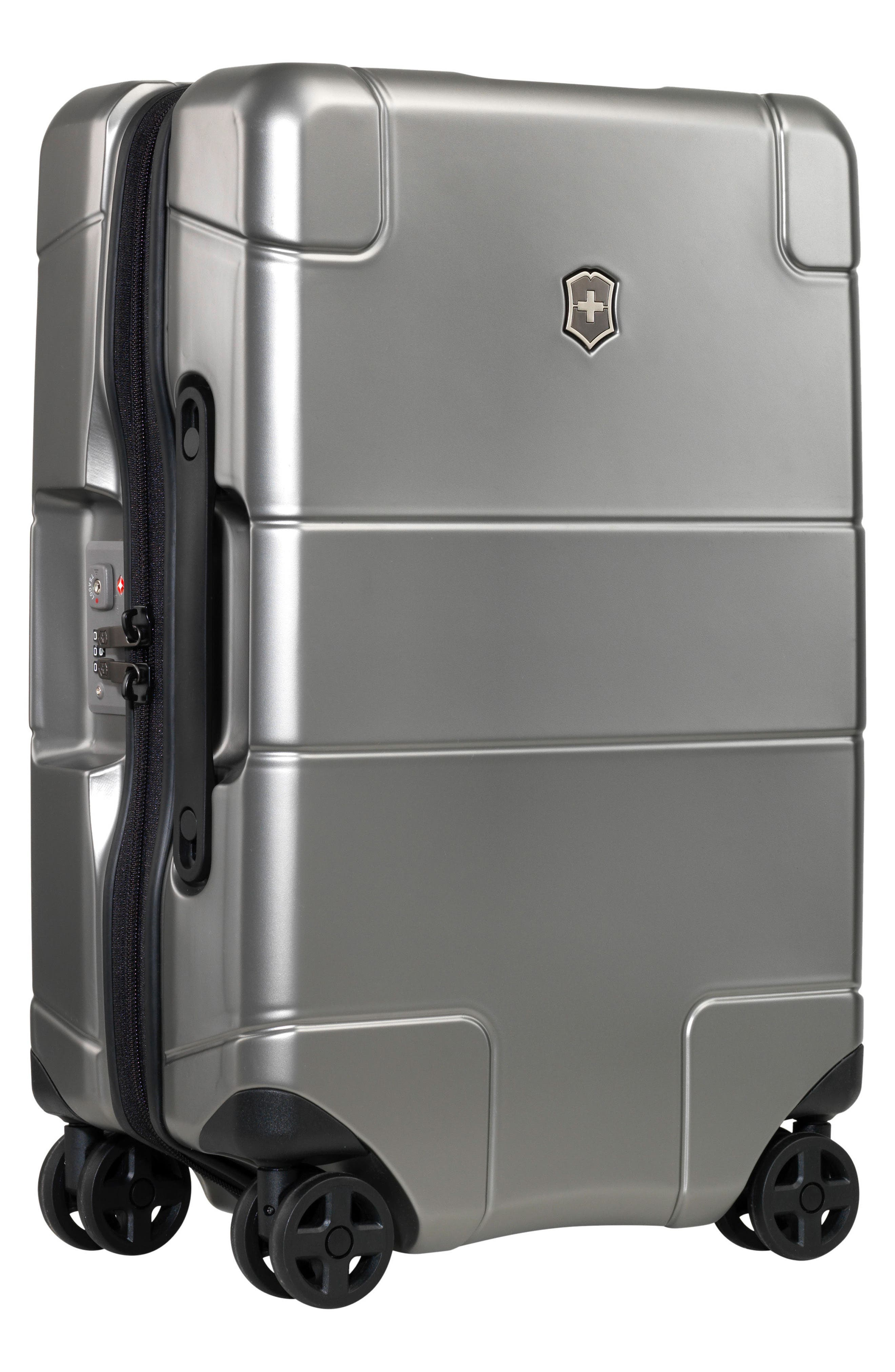 Lexicon Frequent Flyer 22-Inch Wheeled Carry-On,                             Alternate thumbnail 3, color,                             Titanium