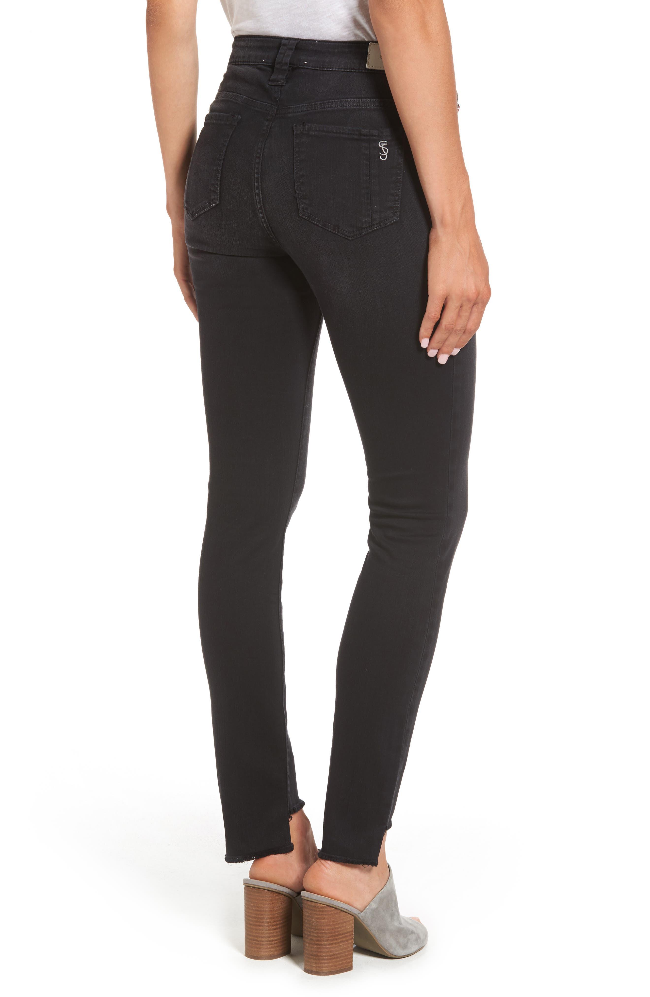 Alternate Image 2  - SLINK Jeans Step Hem Skinny Jeans (Mimi)