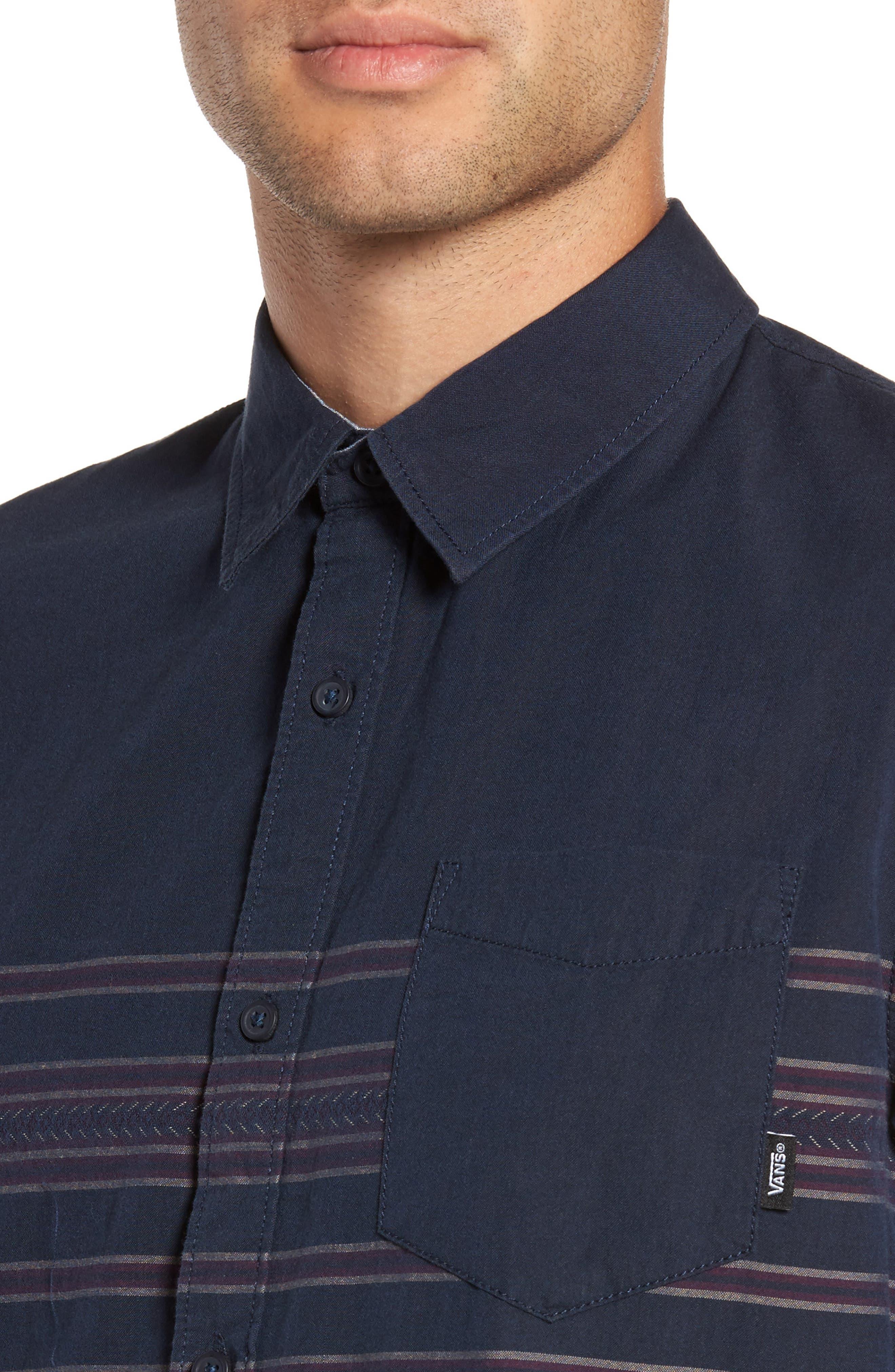 Alternate Image 4  - Vans Benmore Striped Woven Shirt