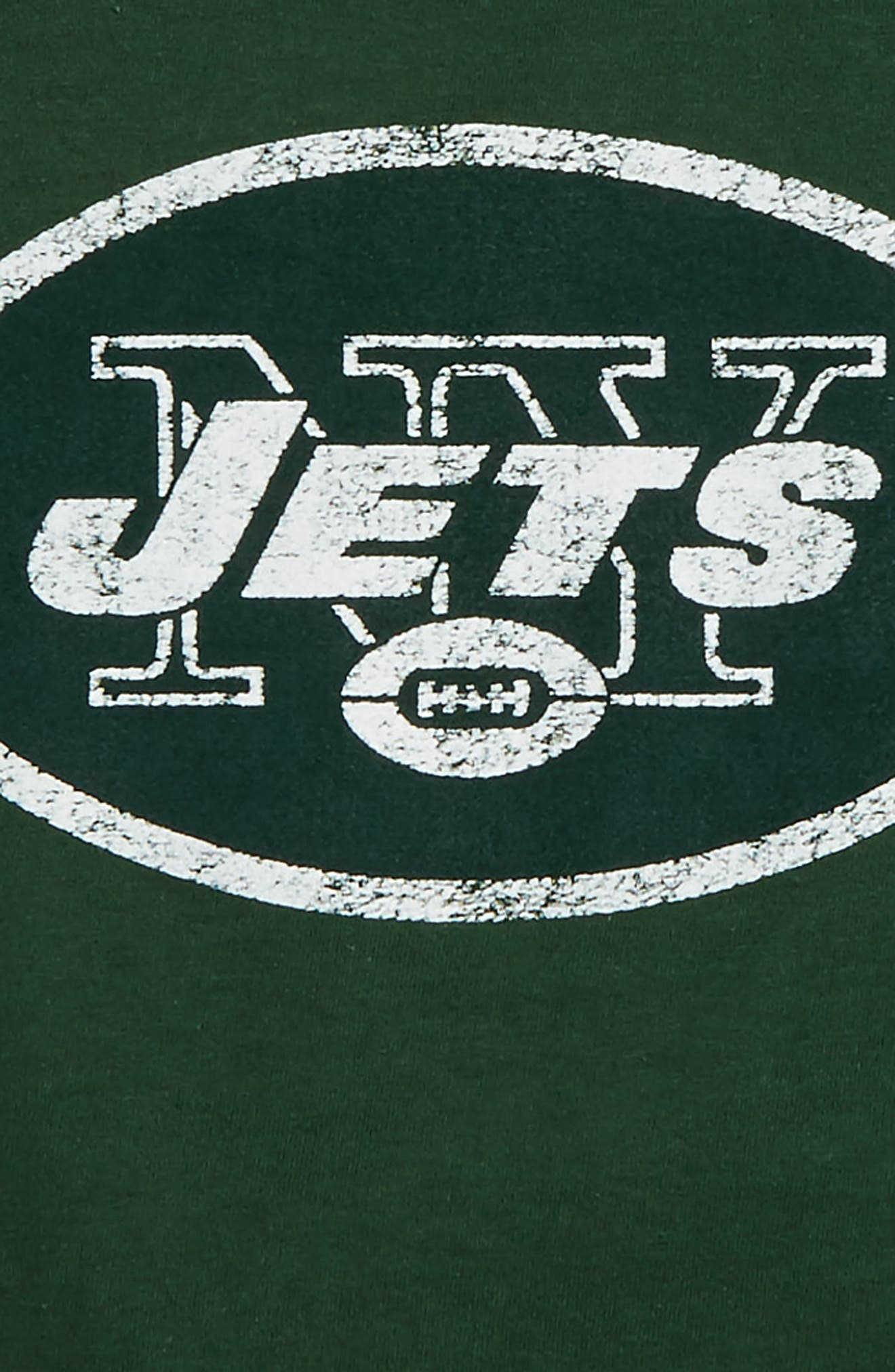 NFL - New York Jets Distressed Logo T-Shirt,                             Alternate thumbnail 2, color,                             Hunter