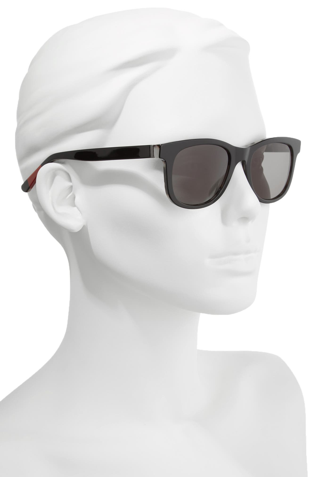 52mm Gradient Sunglasses,                             Alternate thumbnail 2, color,                             Black Tortoise
