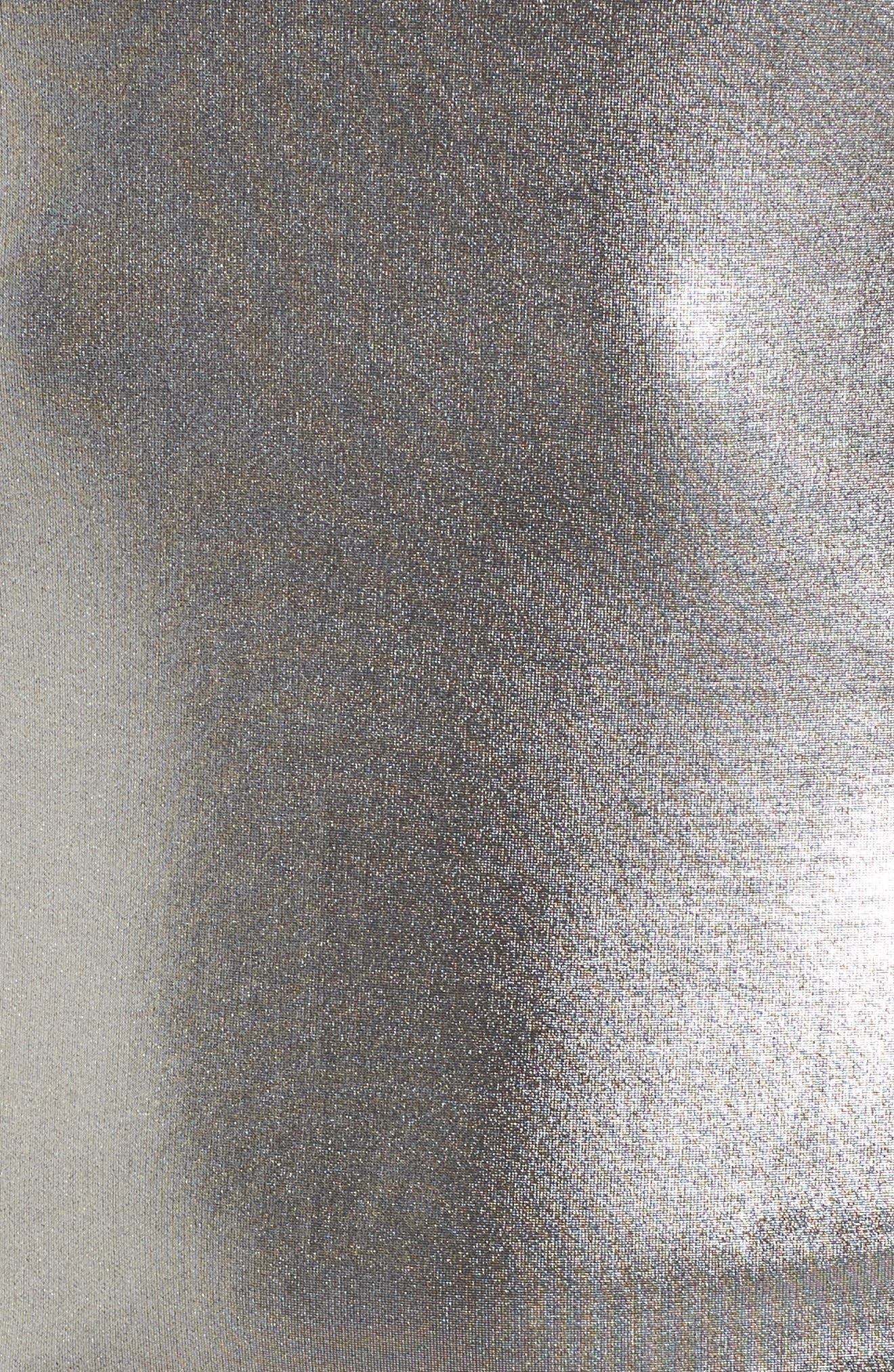 Leon One-Shoulder Body-Con Dress,                             Alternate thumbnail 5, color,                             Pewter