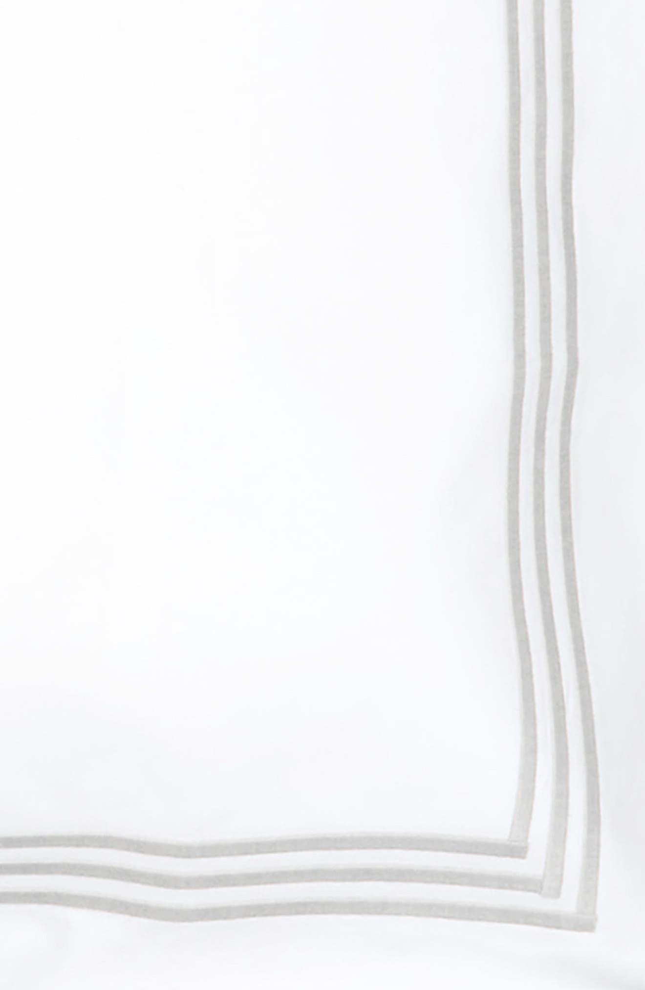 Bel Tempo 350 Thread Count Sham,                             Alternate thumbnail 3, color,                             Silver