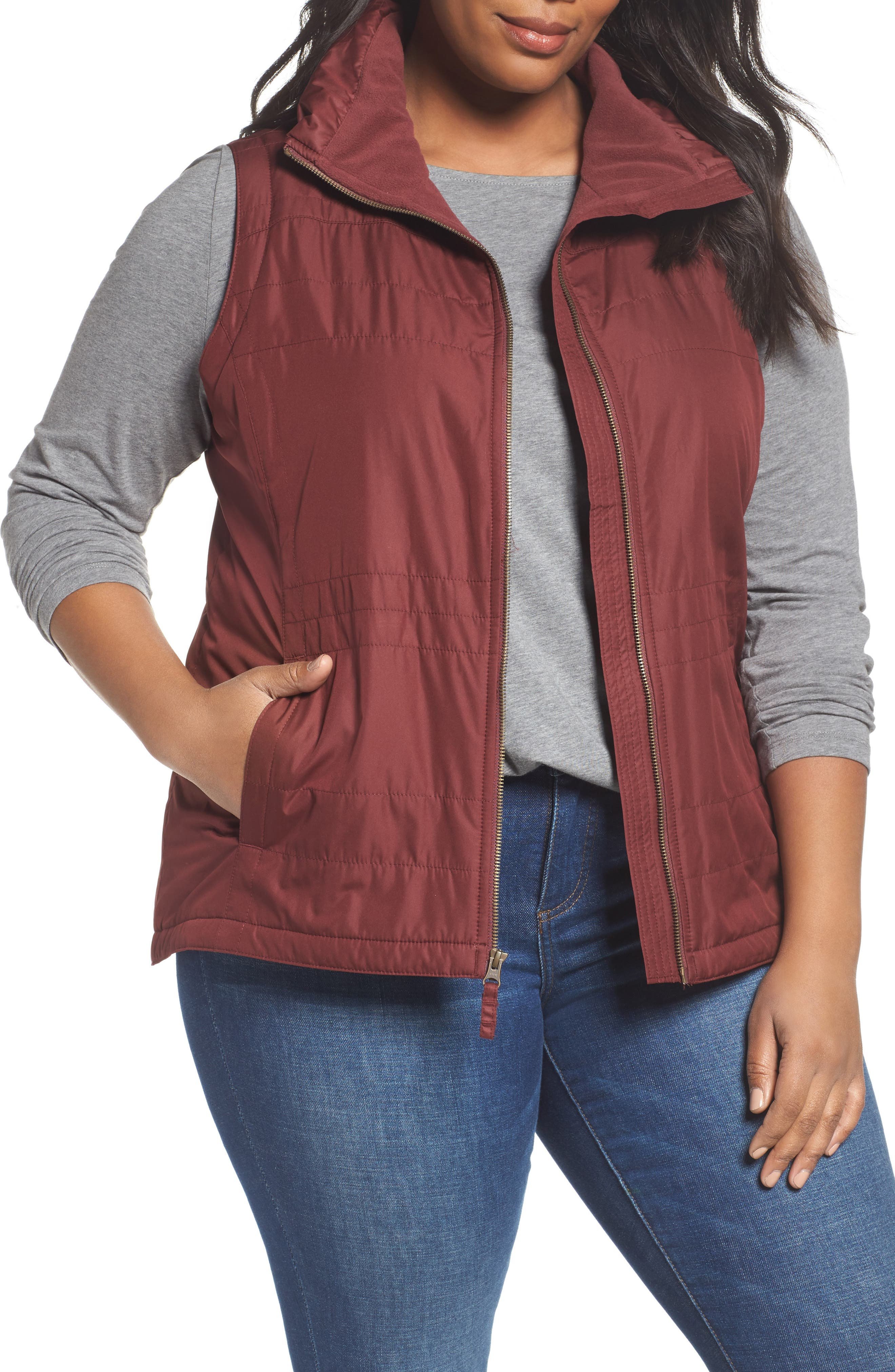 Alternate Image 1 Selected - Columbia Shining Light II Quilted Vest (Plus Size)