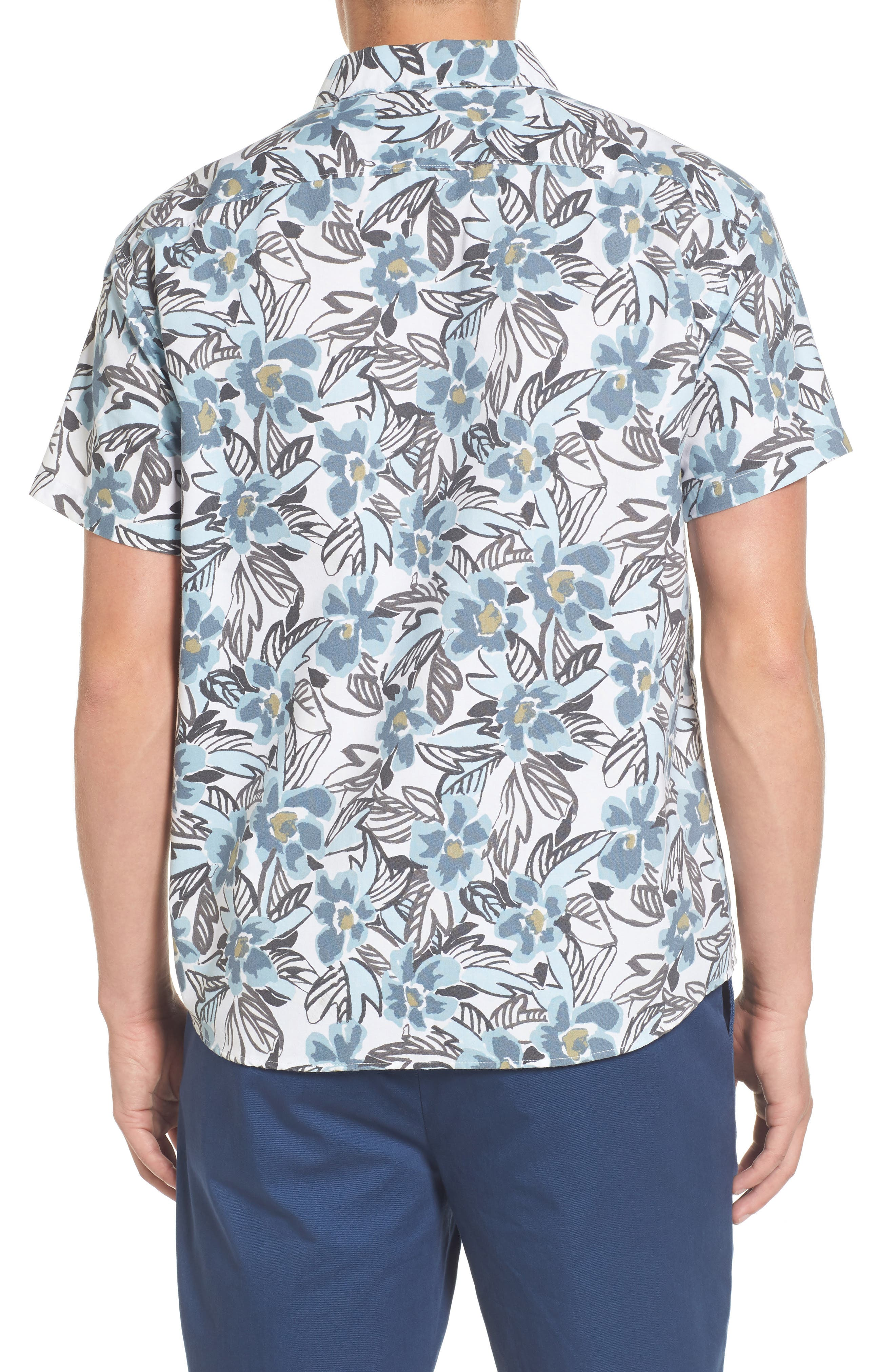 Paradise Valley Floral Woven Shirt,                             Alternate thumbnail 2, color,                             Cosmos