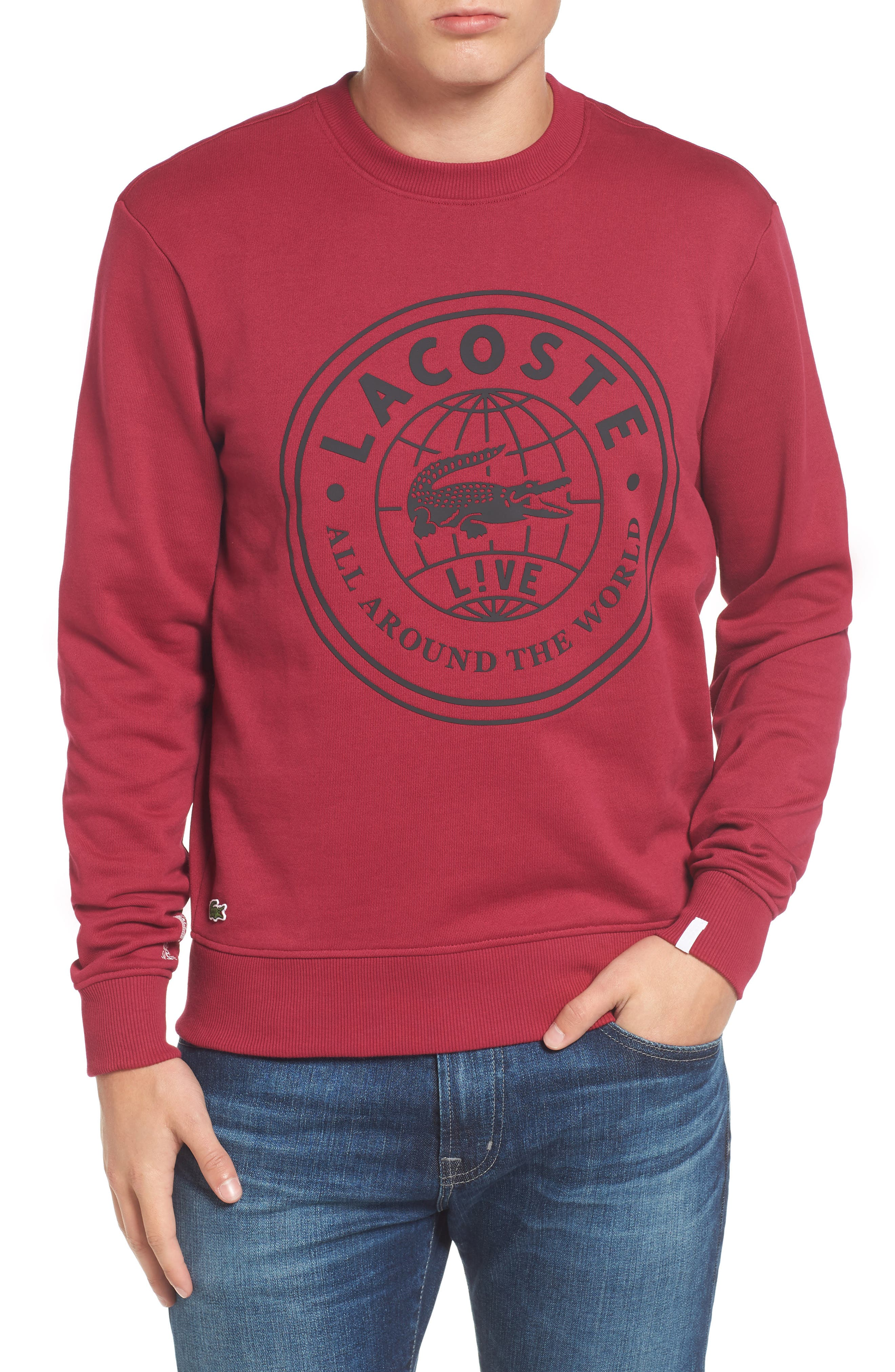 Lacoste Molleton Worldwide Sweatshirt