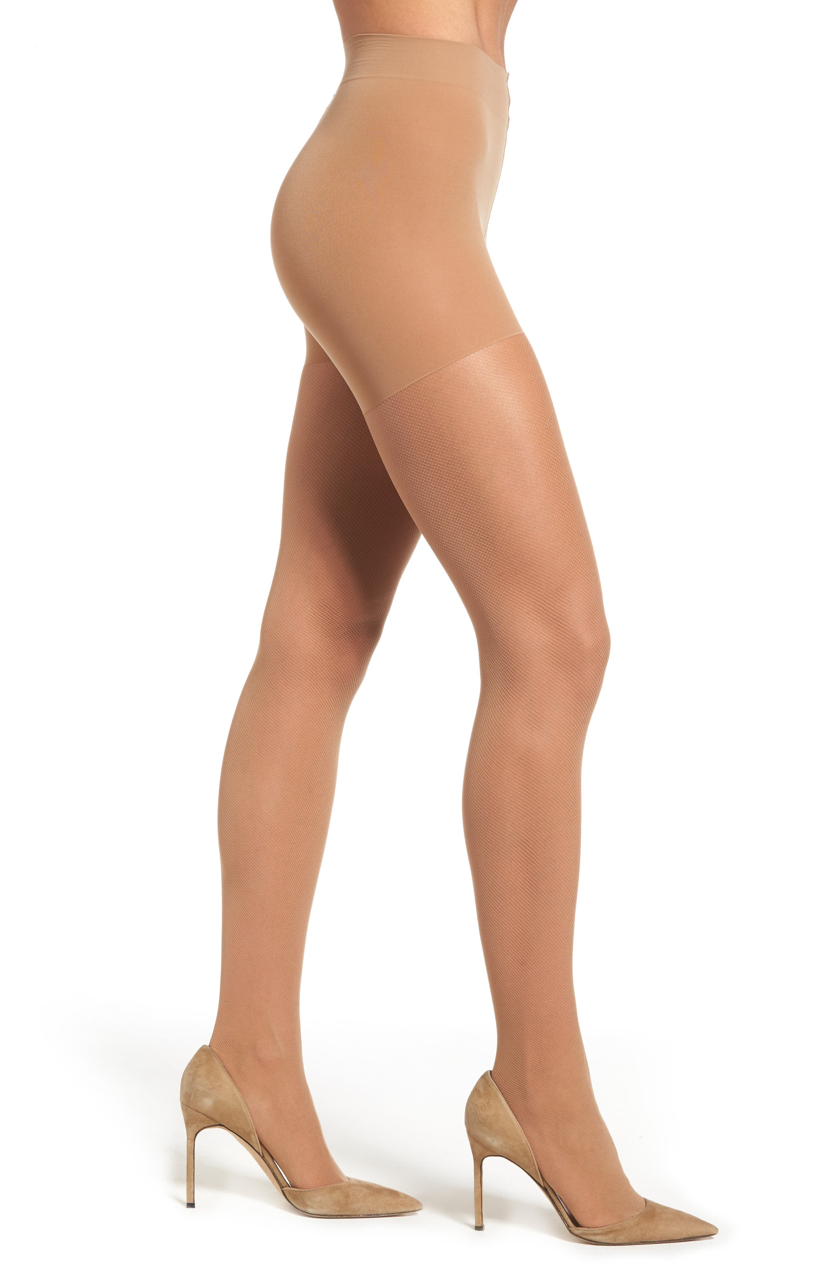 Alternate Image 1 Selected - Hanes Perfect Nudes Micro Net Pantyhose (3 for $30)