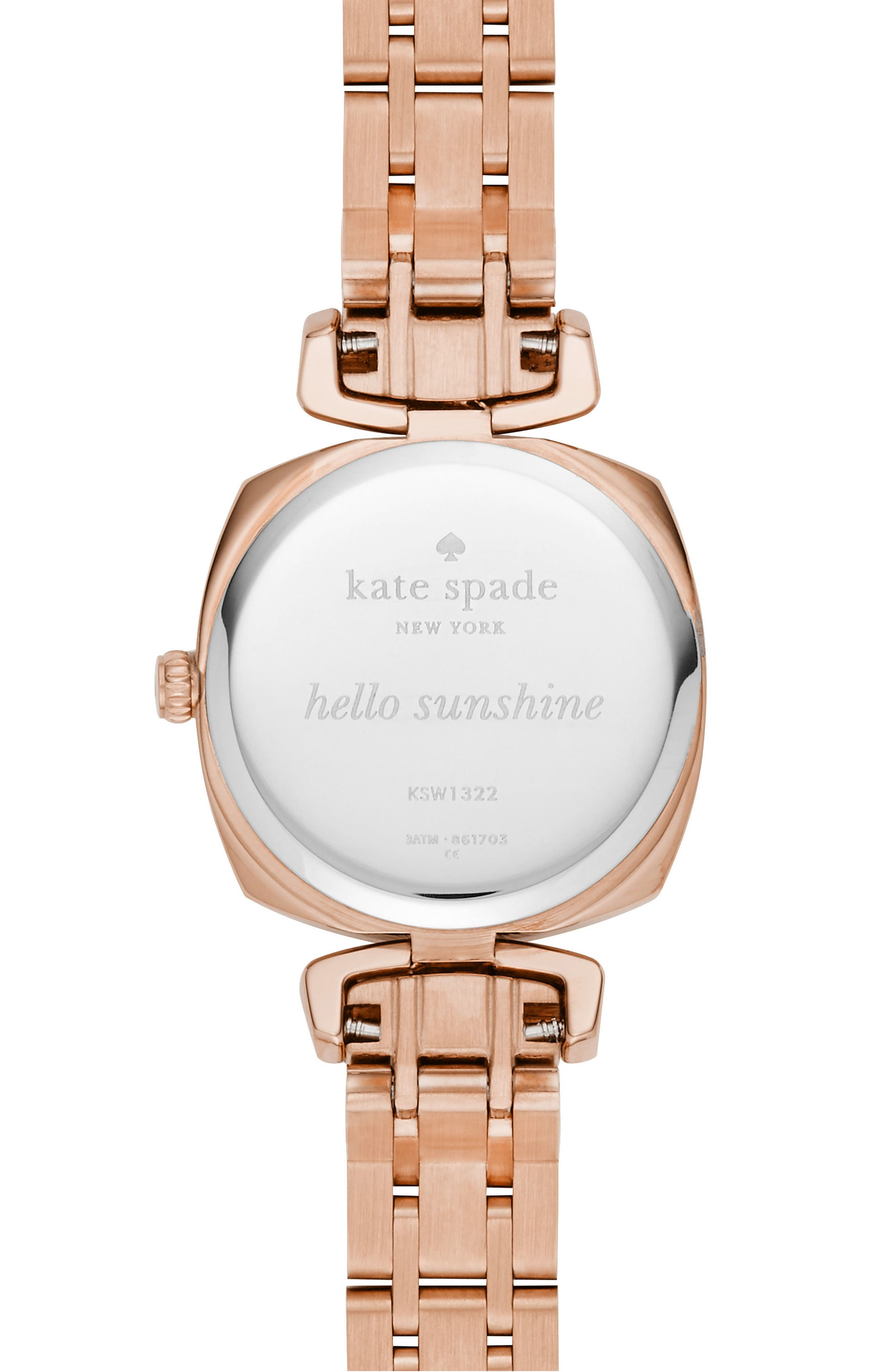 Alternate Image 2  - kate spade new york barrow leather strap watch, 24mm