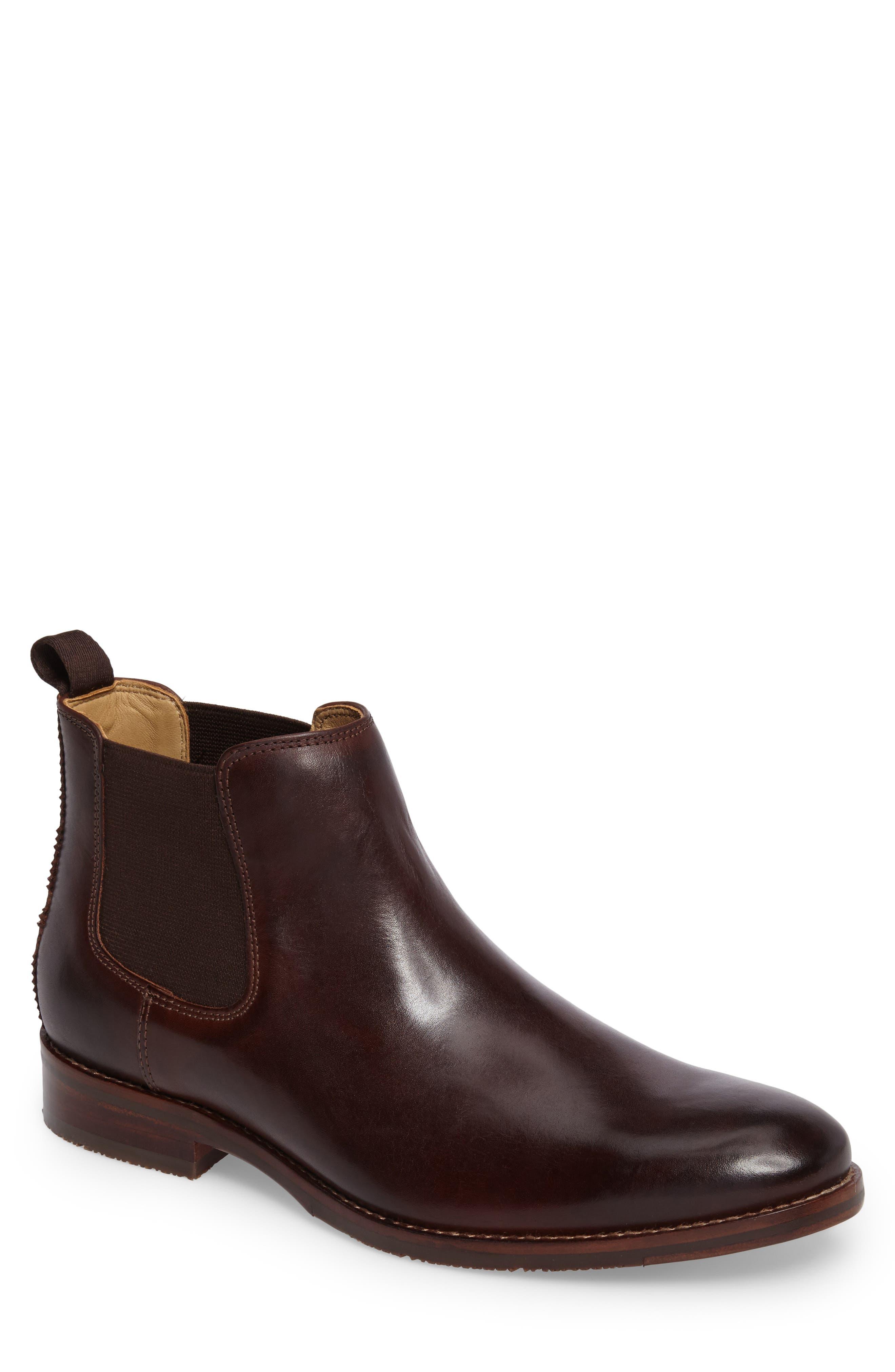 Garner Chelsea Boot,                         Main,                         color, Mahogany Leather